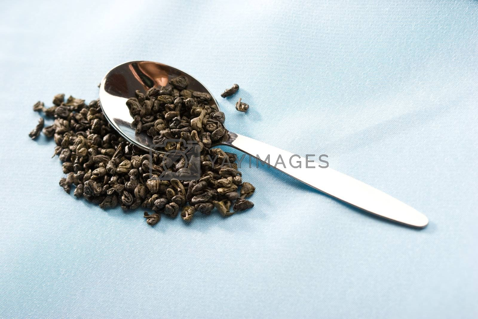 Royalty free image of tea leaves by agg