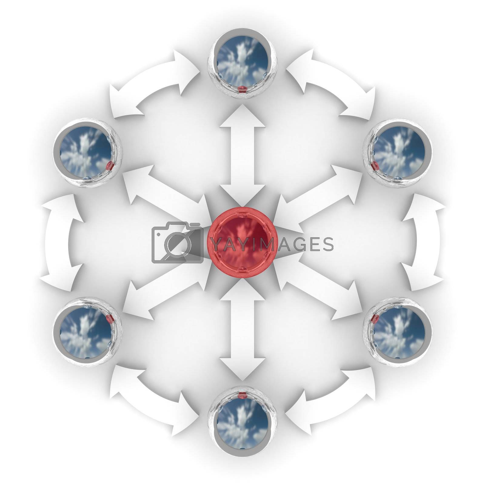 Royalty free image of Conceptual image of teamwork. 3D image. by ISerg
