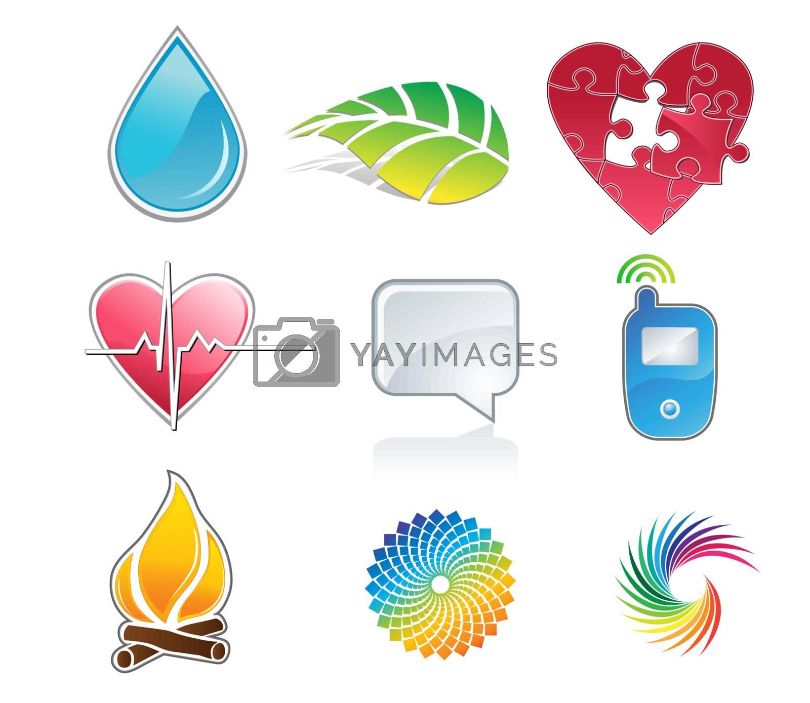 Royalty free image of Symbols vector by alladinian