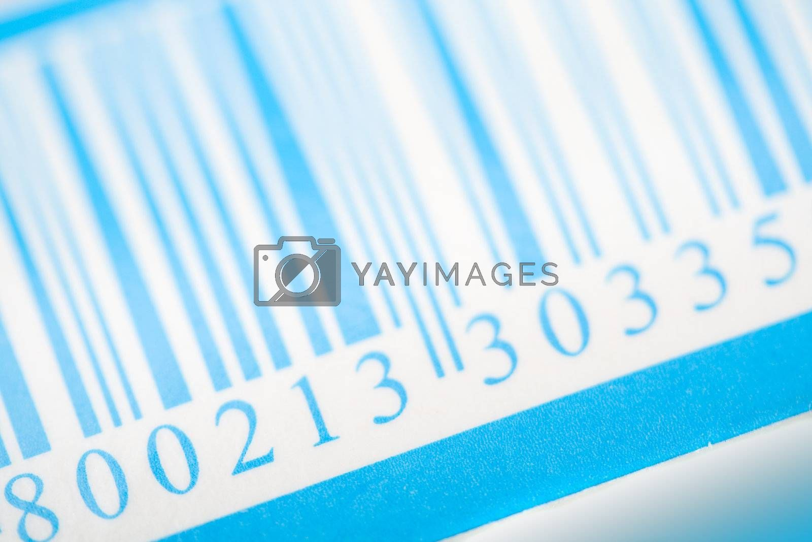 Royalty free image of blue barcode by Alekcey