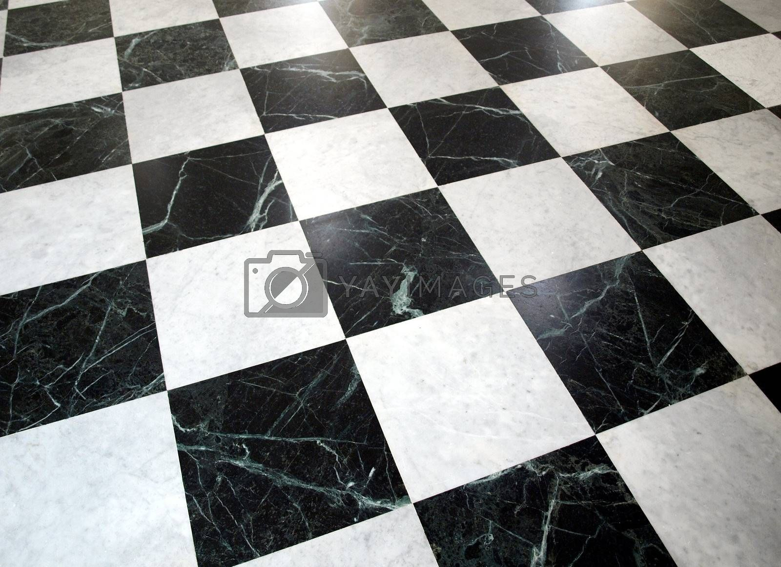 Royalty free image of Checked floor by claudiodivizia