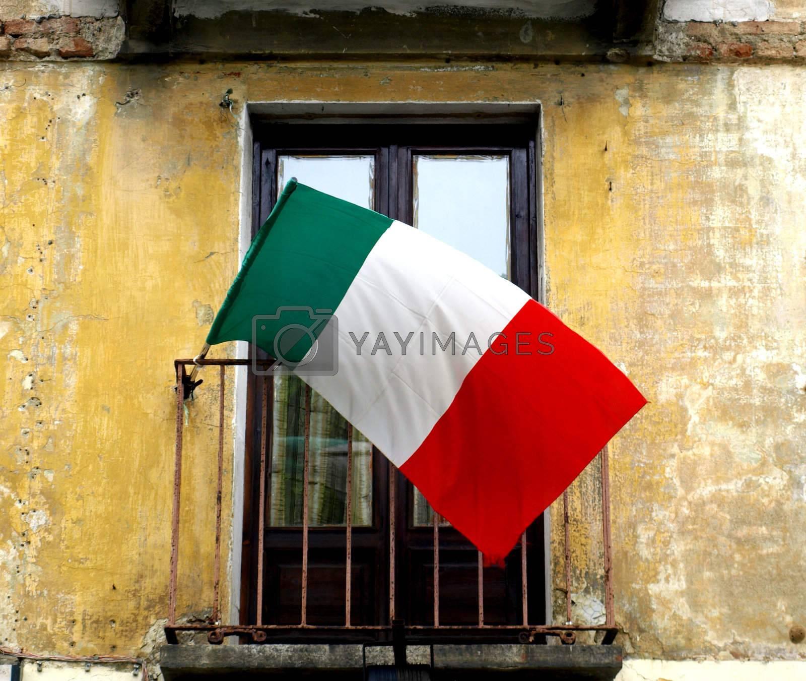 Royalty free image of Italian flag by claudiodivizia