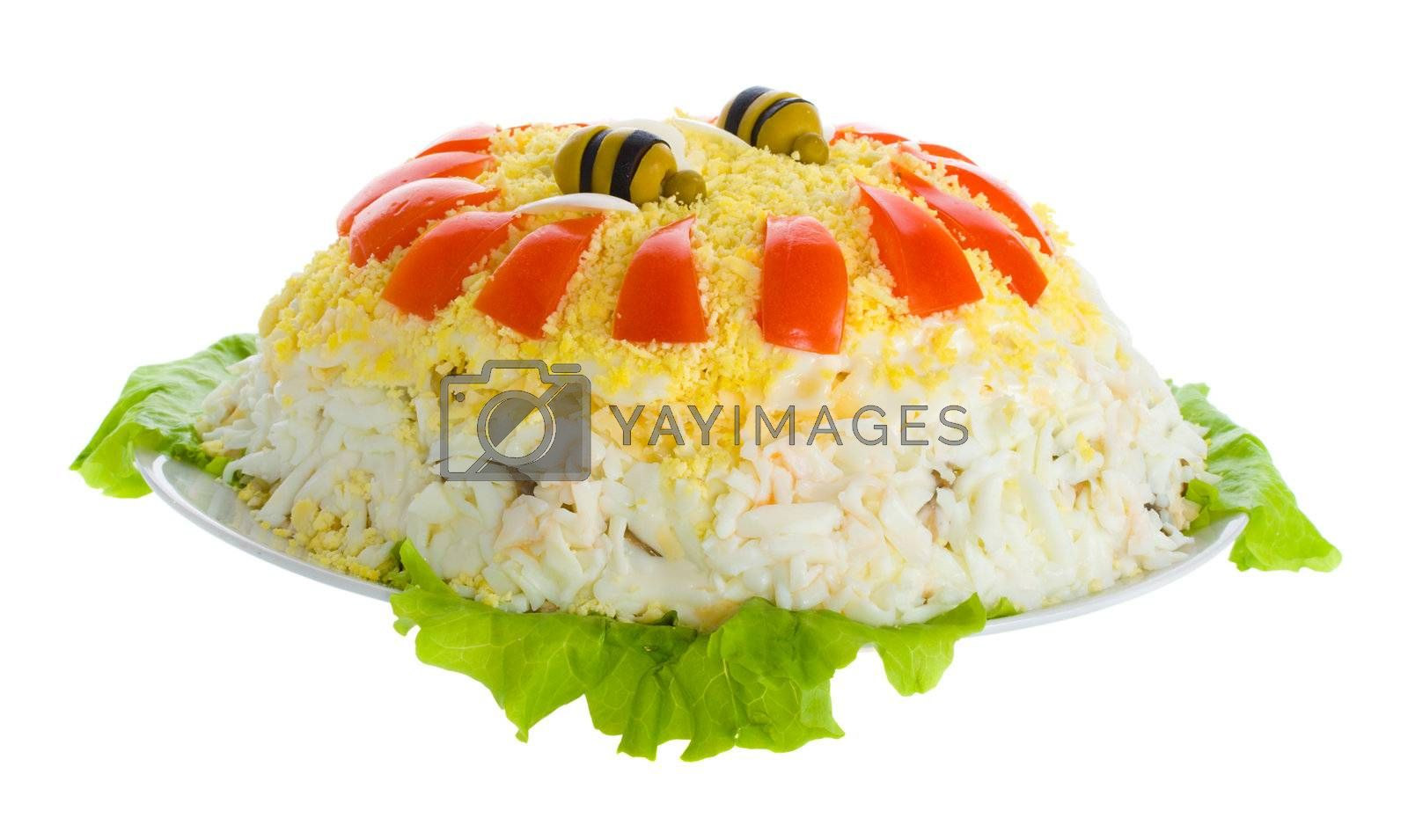 Royalty free image of close-up chicken salad by Alekcey
