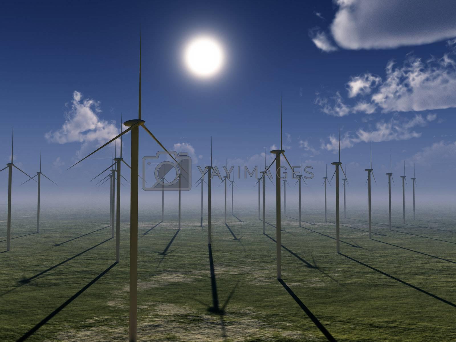 Royalty free image of Wind Farm by harveysart