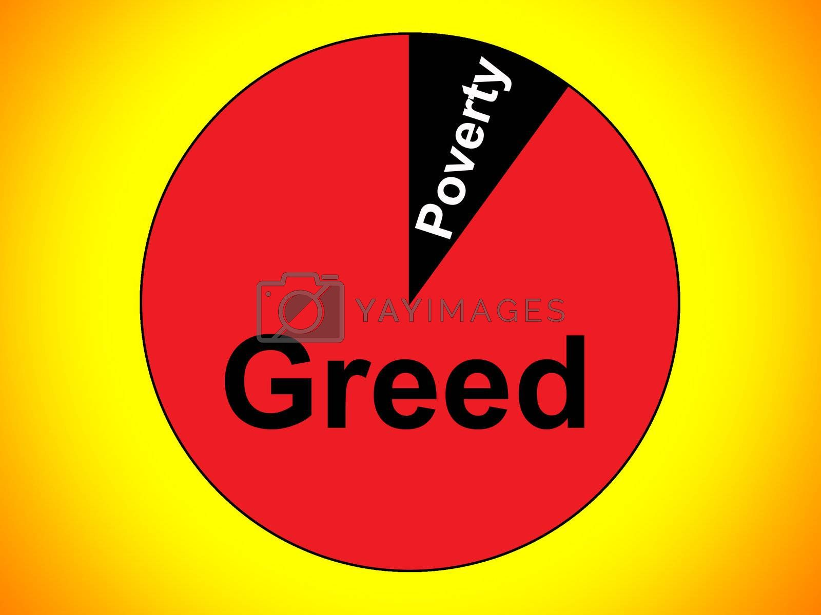 Royalty free image of Greed And Poverty by harveysart