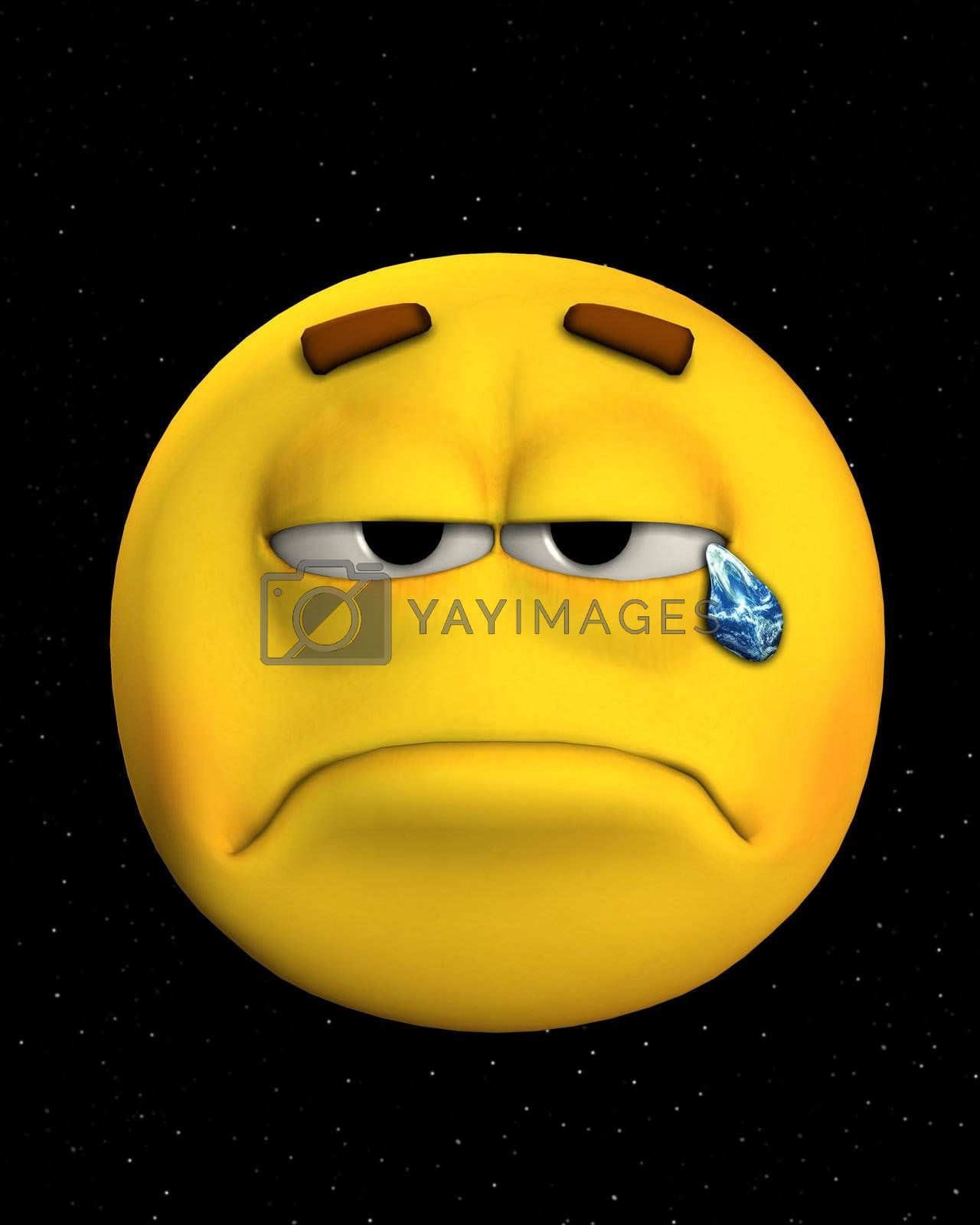 Royalty free image of Crying For The Earth by harveysart