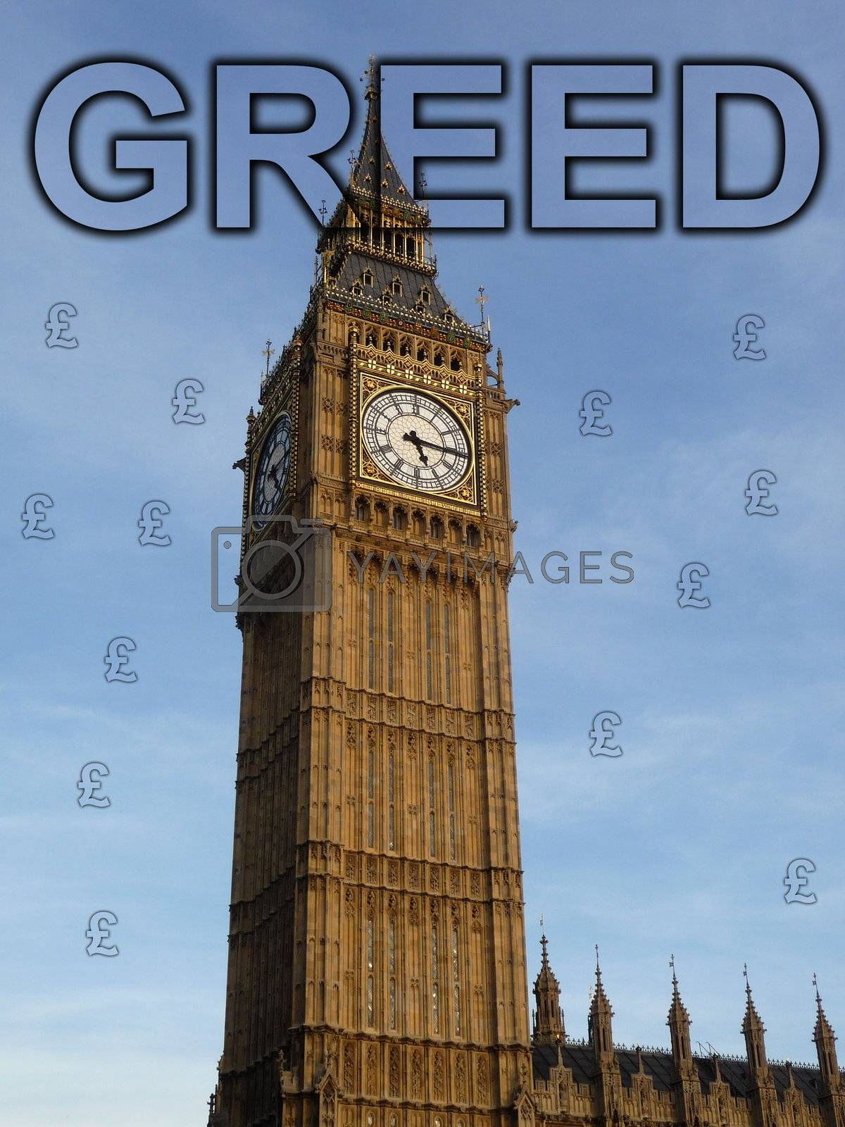 Royalty free image of Greed In Parliament by harveysart