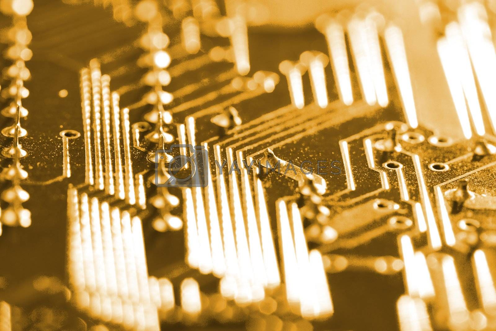 electronic circuit board, selective focus