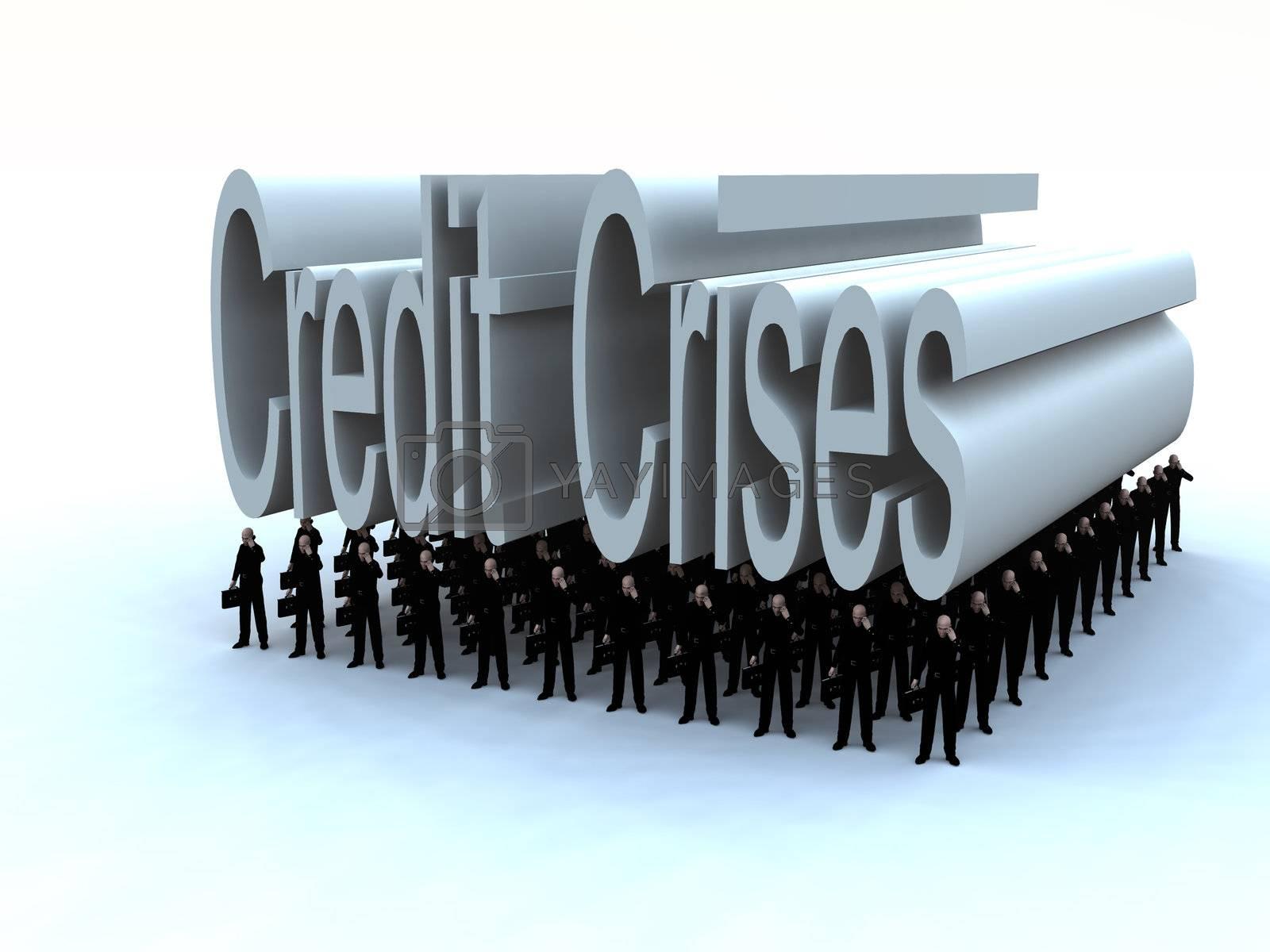 Royalty free image of Businessmen Under The Credit Crises  by harveysart