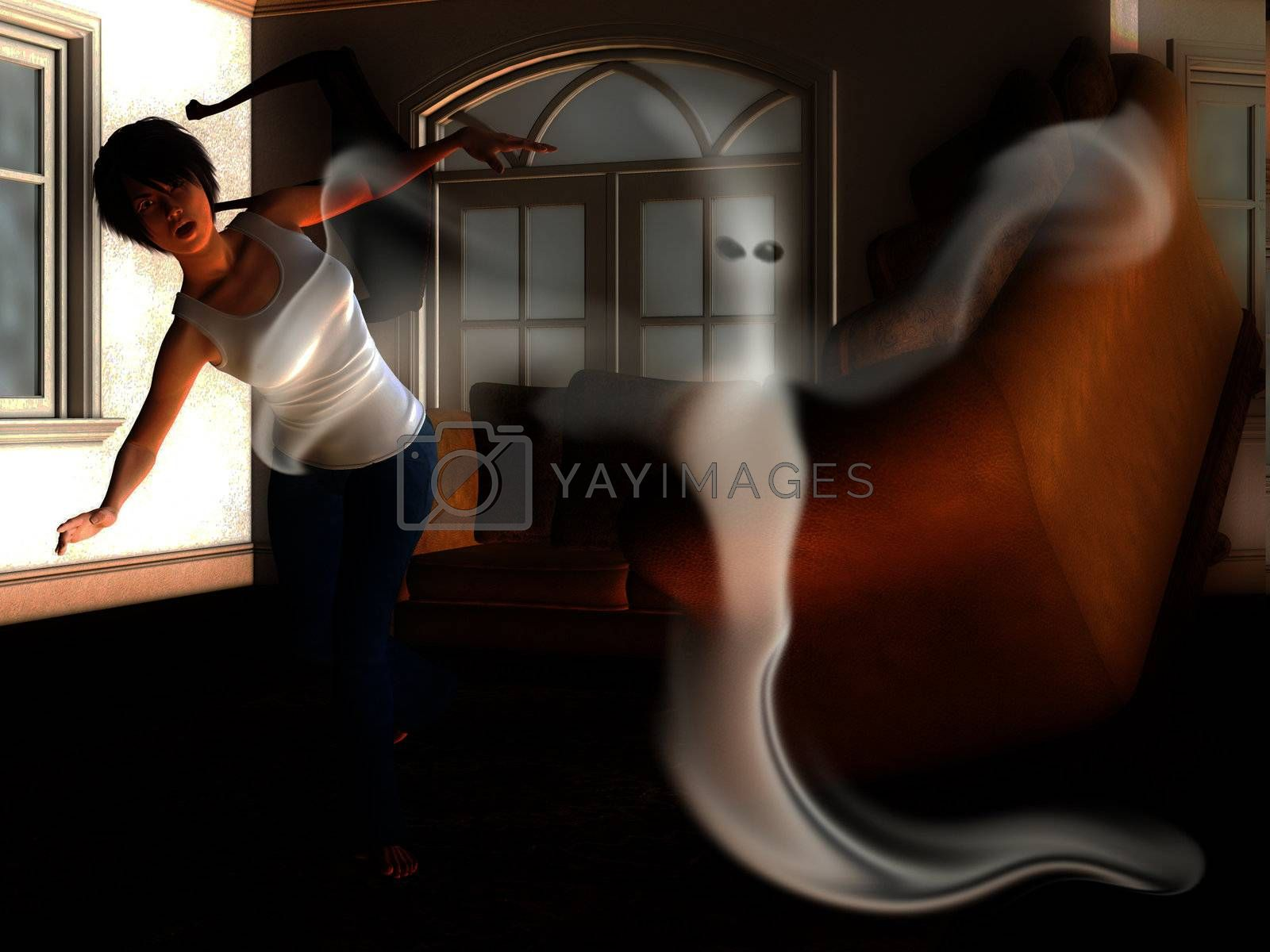 Royalty free image of Ghost in The House by harveysart