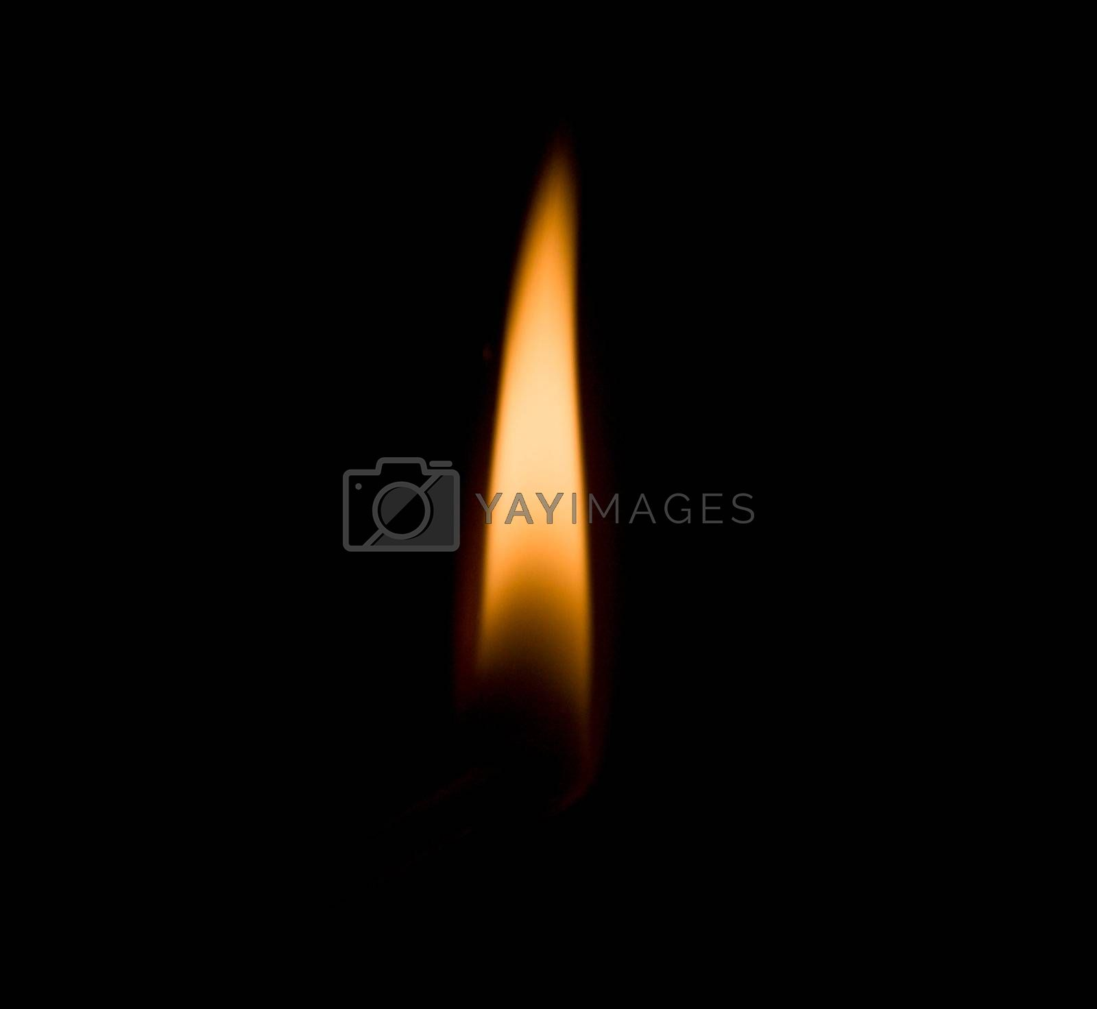 Royalty free image of flame of candle by Alekcey