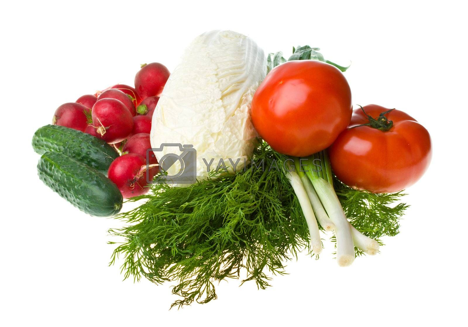 Royalty free image of heap of various vegetables by Alekcey