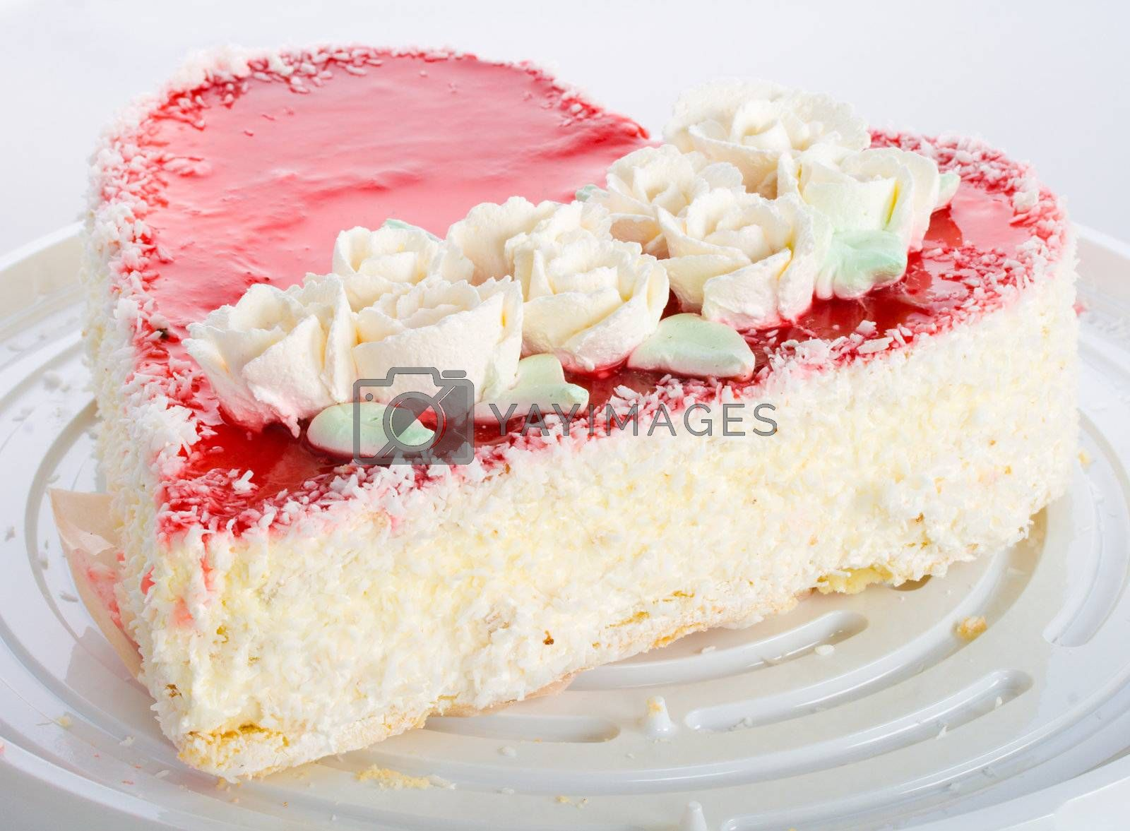 Royalty free image of heart-shaped cake by Alekcey