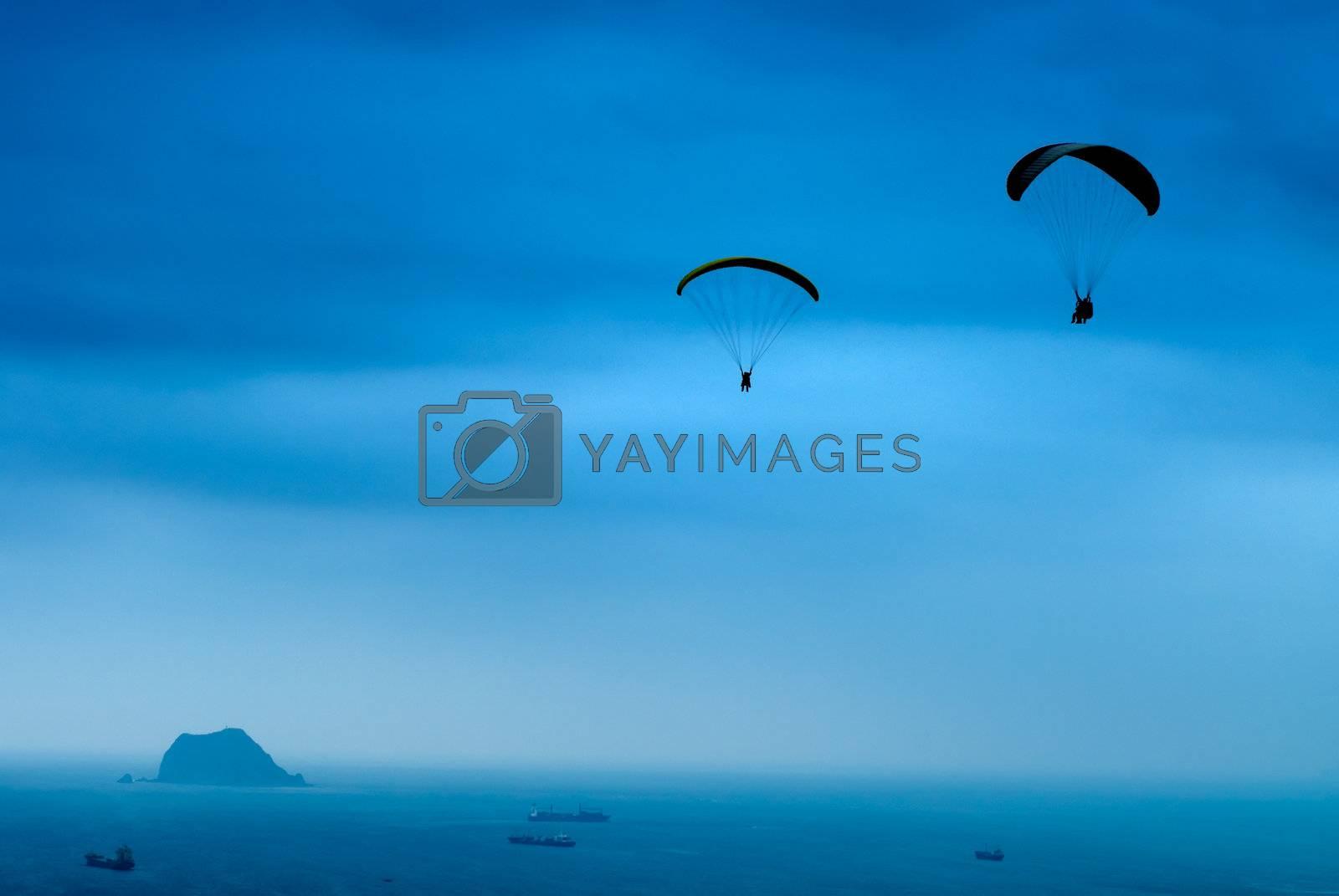 Royalty free image of parachuting by elwynn
