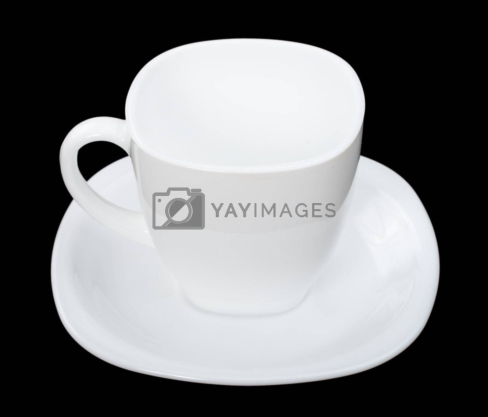 Royalty free image of perfect empty cup of coffee on black by Alekcey