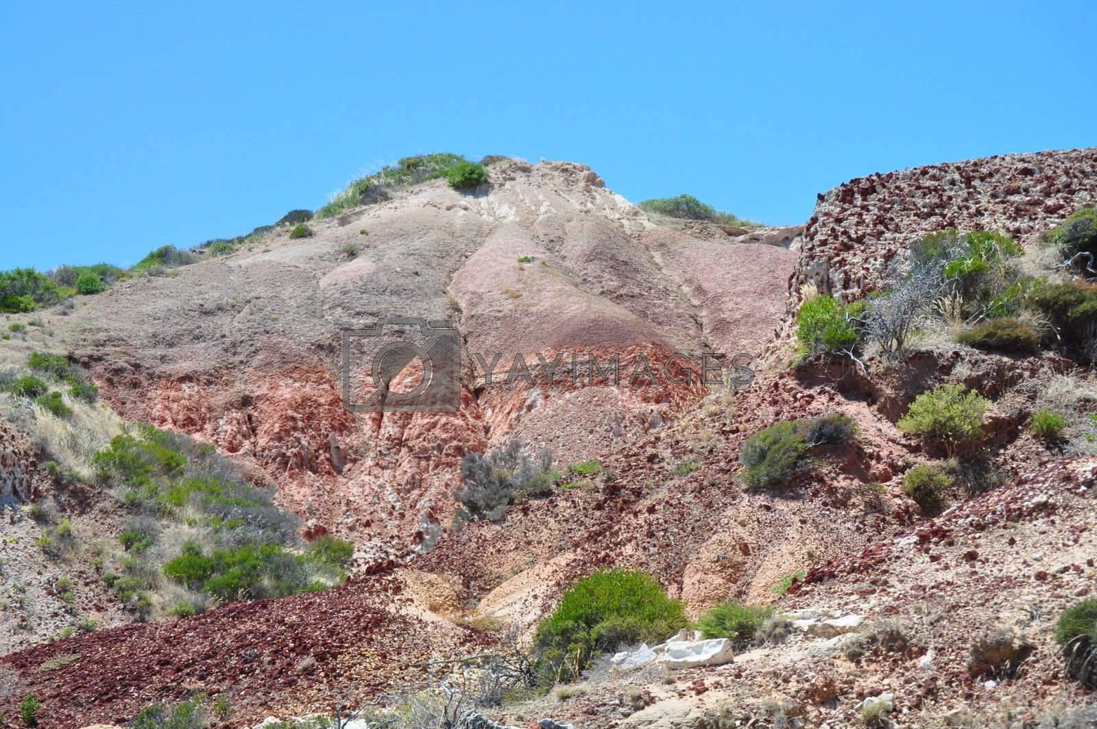 Amazing Rocky mountain in the Hallett Cove Conservation Park, Australia.