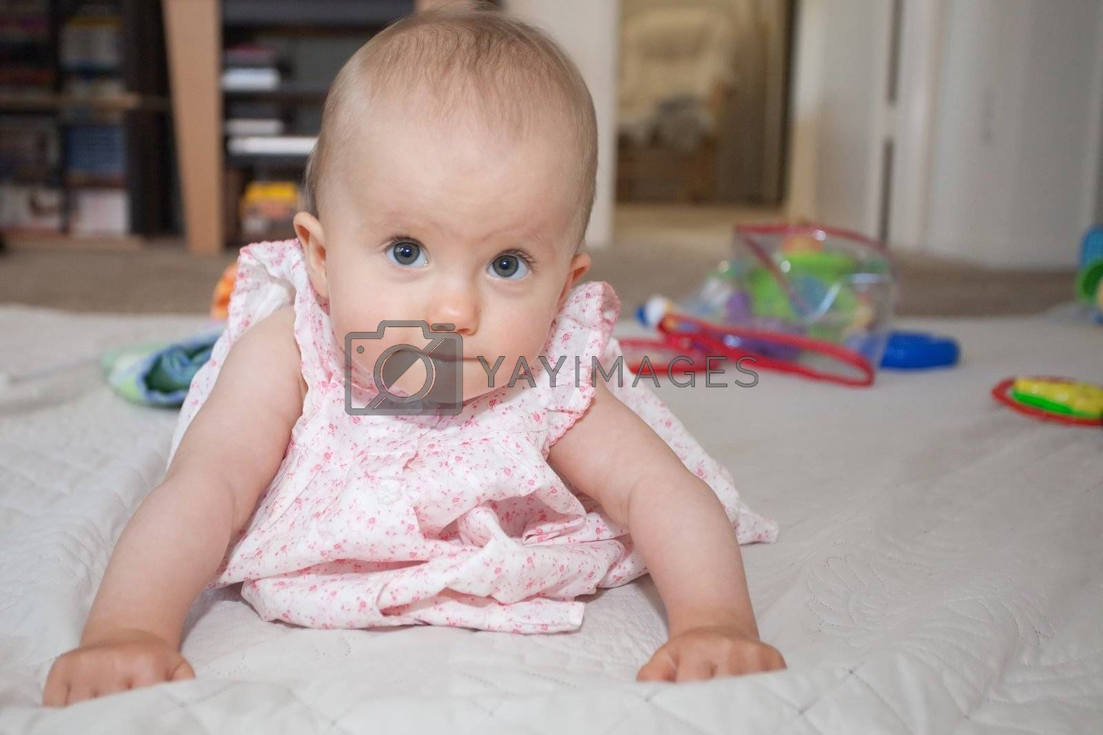 Babies usually learn to crawl before they develop walking skills. For humans it usually means moving on knees and hands, with support from the toes.