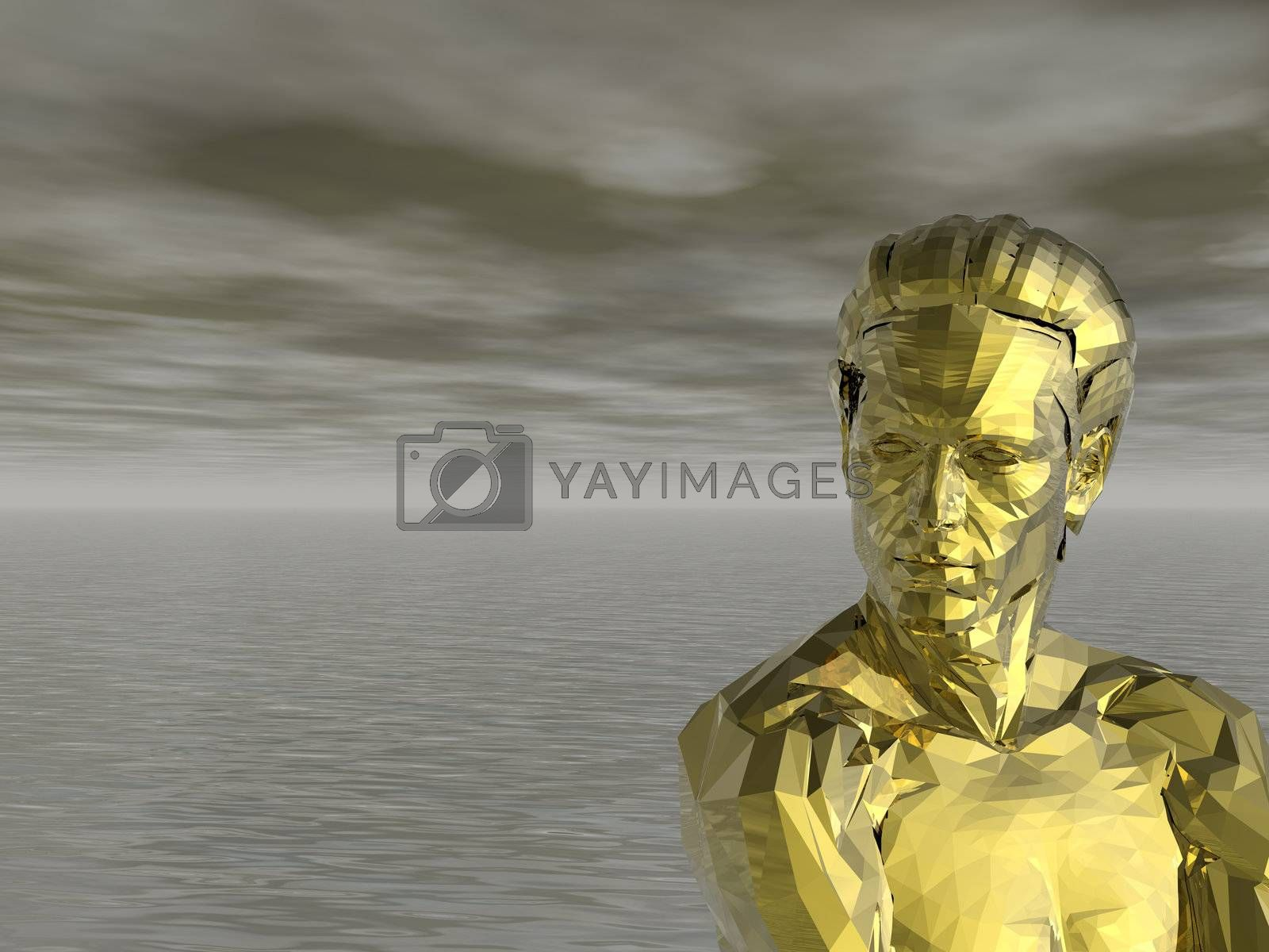 Royalty free image of golden monument by drizzd