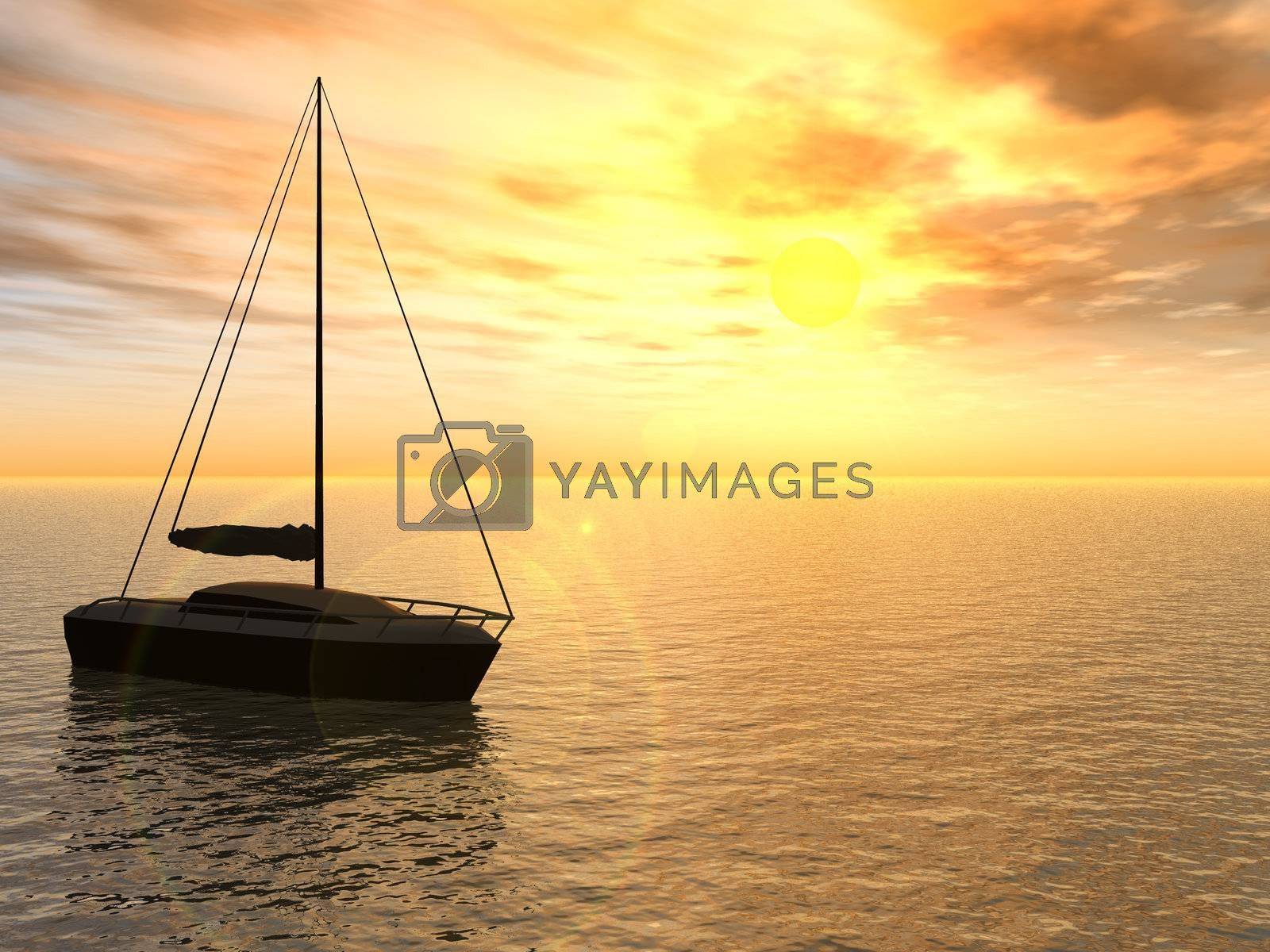 Royalty free image of yacht by drizzd