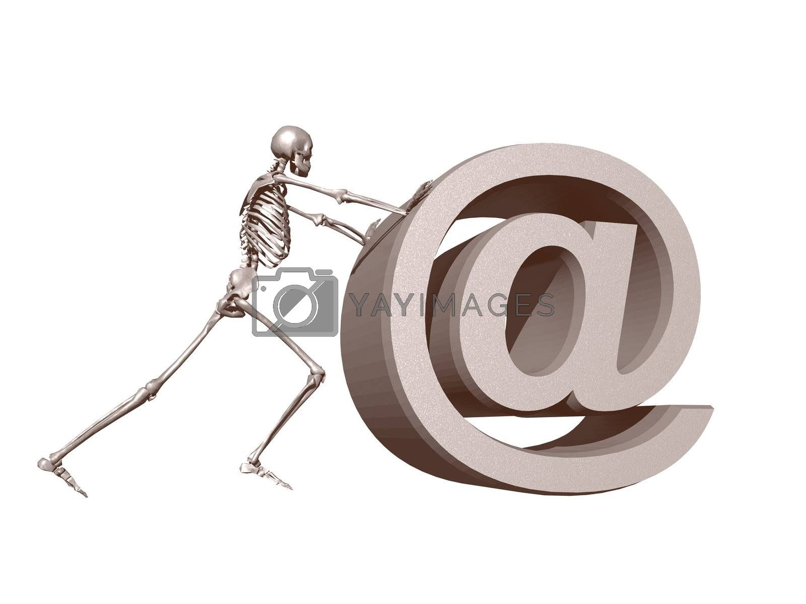 Royalty free image of death mail by drizzd