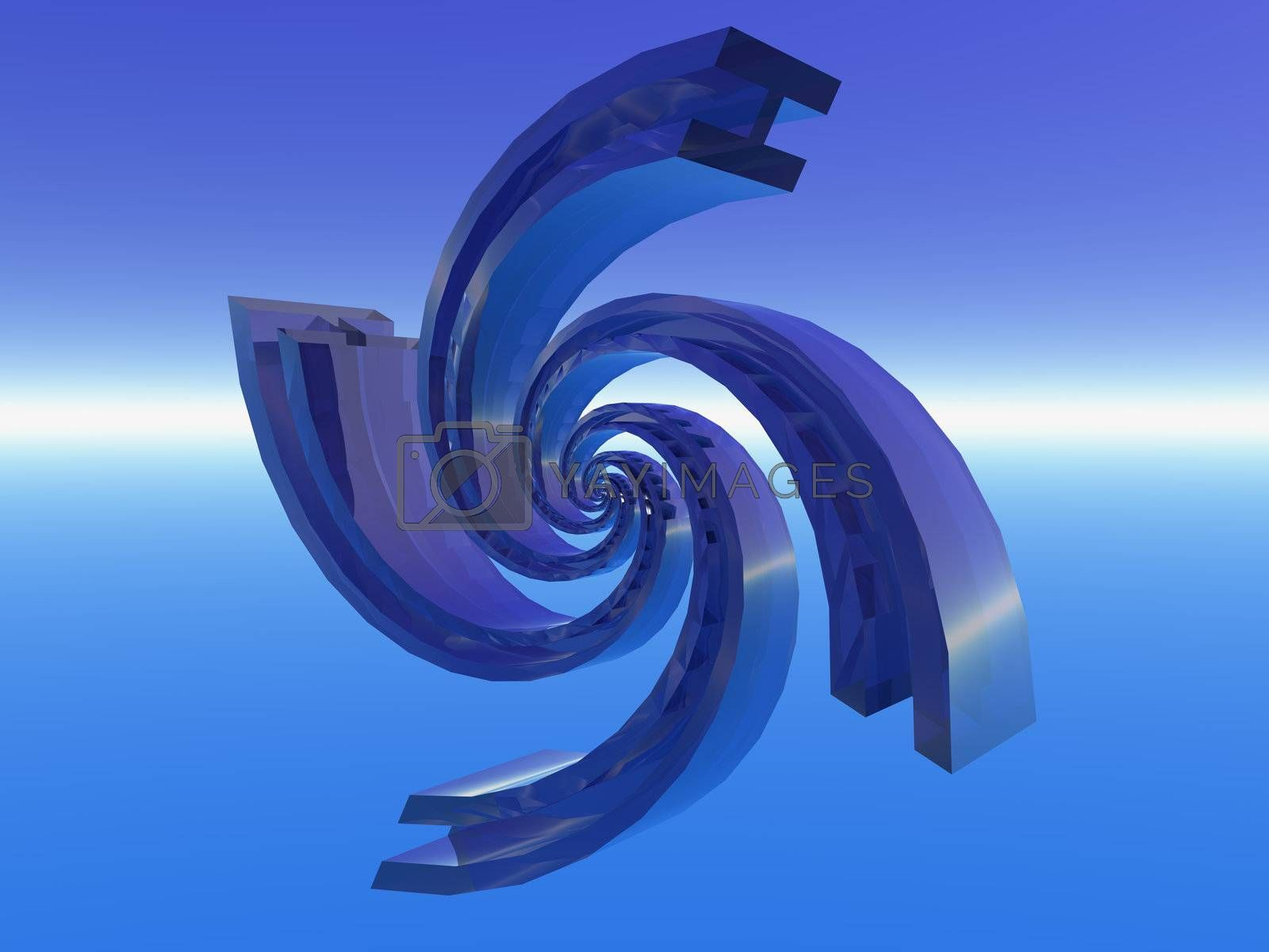 Royalty free image of spiral thing by drizzd