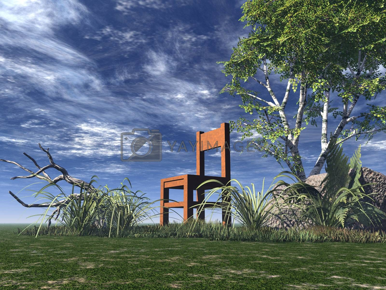 Royalty free image of chair by drizzd