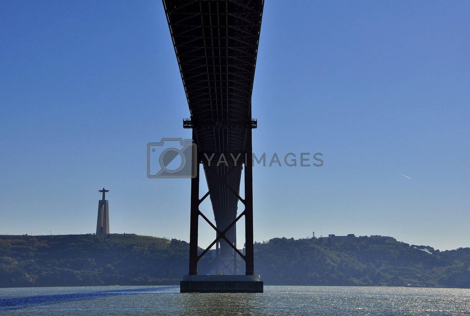 Portugal Lisbon Bridge on April 25 architecture