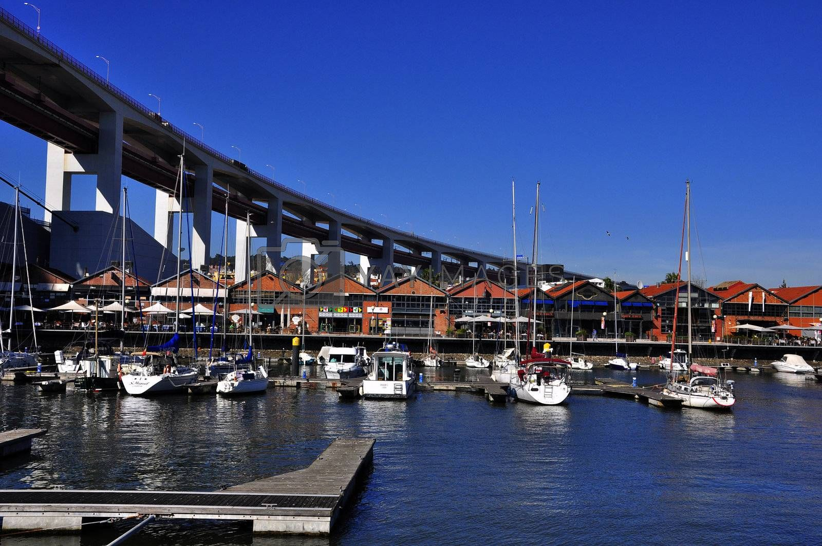Cove marina, near the bridge on April 25 in Lisbon