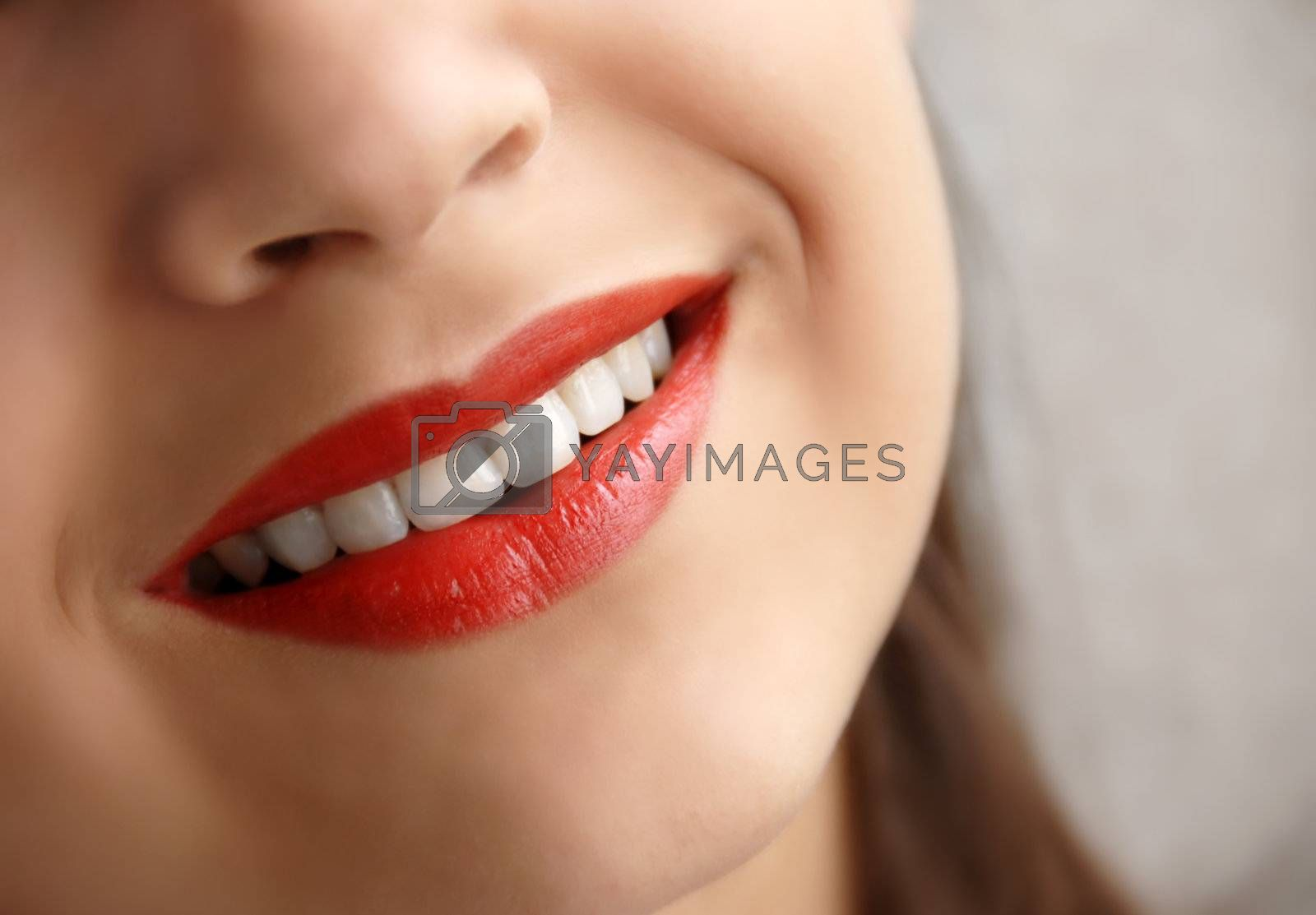 Royalty free image of Young girl smile by simply