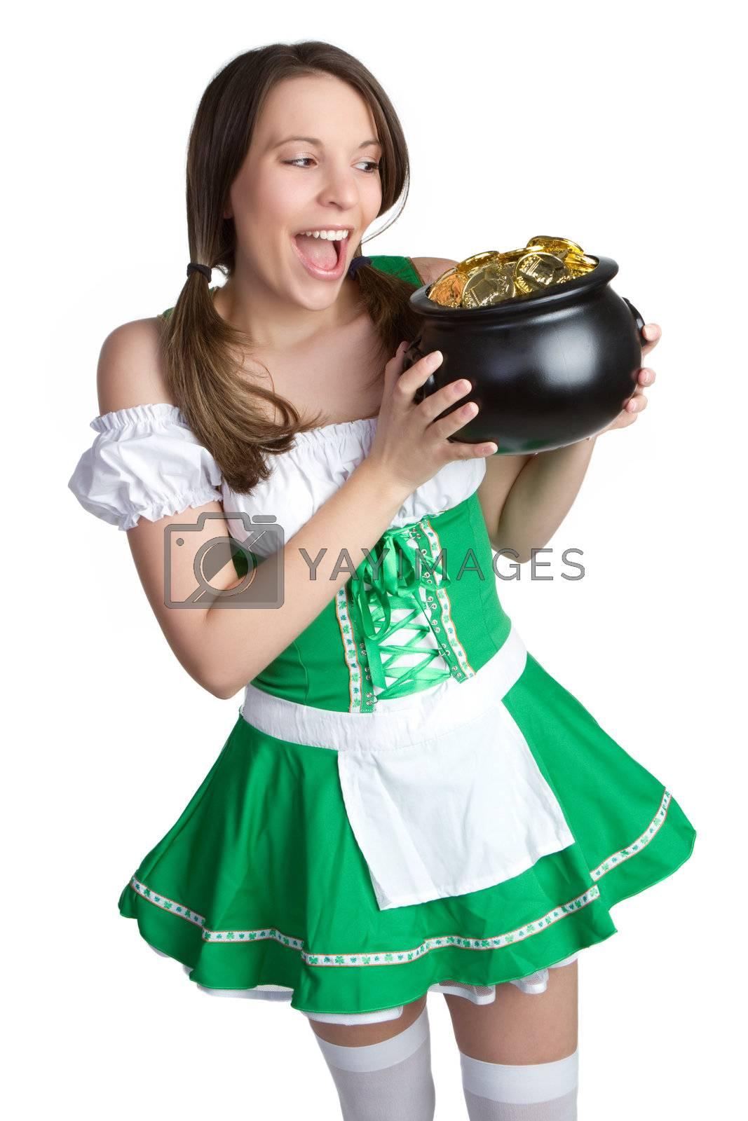Beautiful St Patrick's Day girl