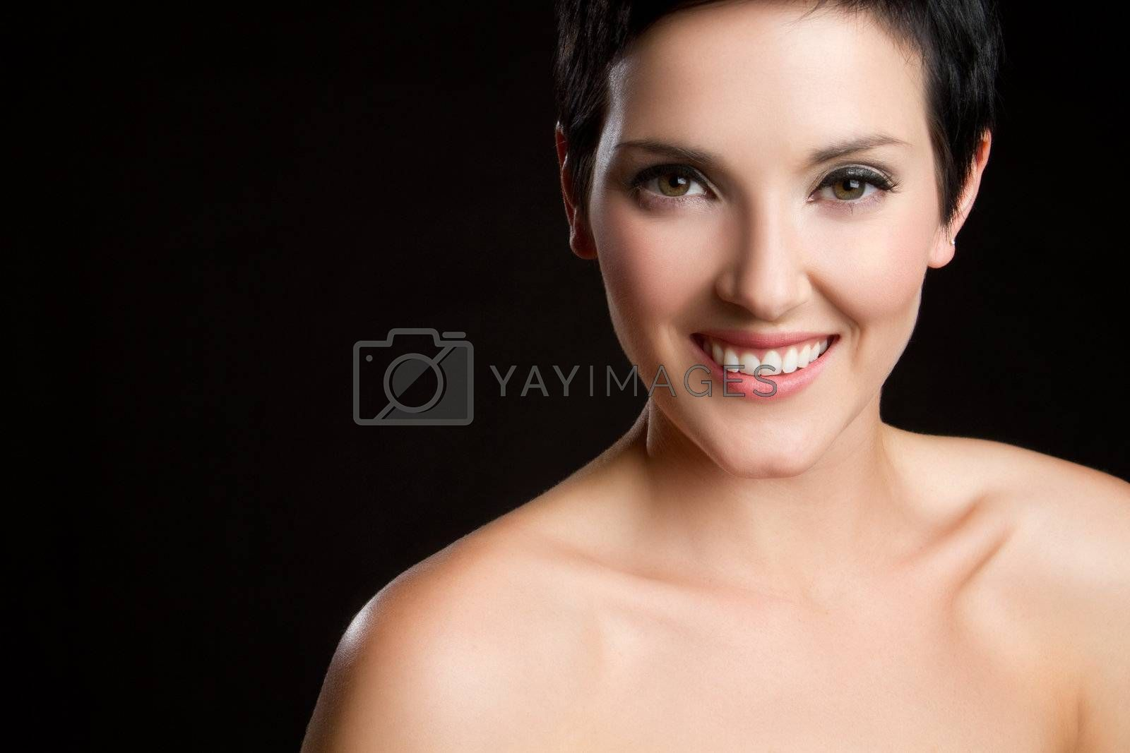 Beautiful smiling happy young woman