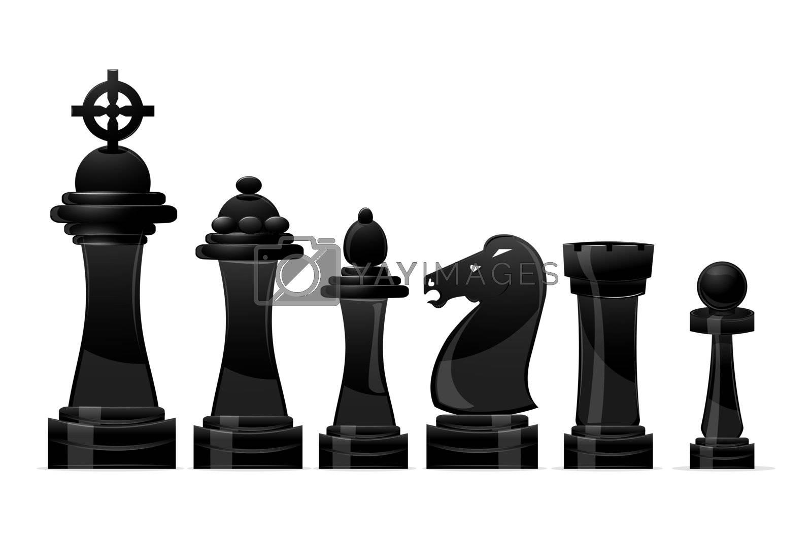 illustration of chess on white background