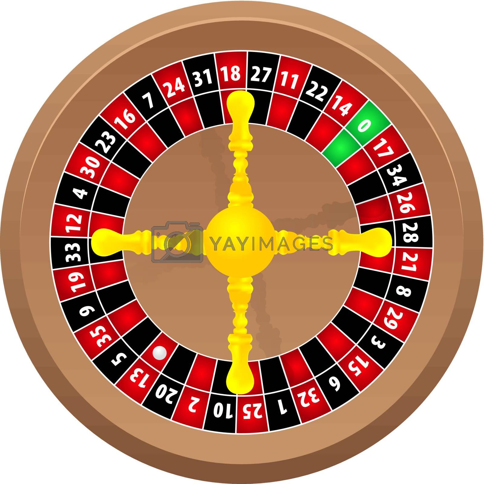 roulette casino online on white background, vector