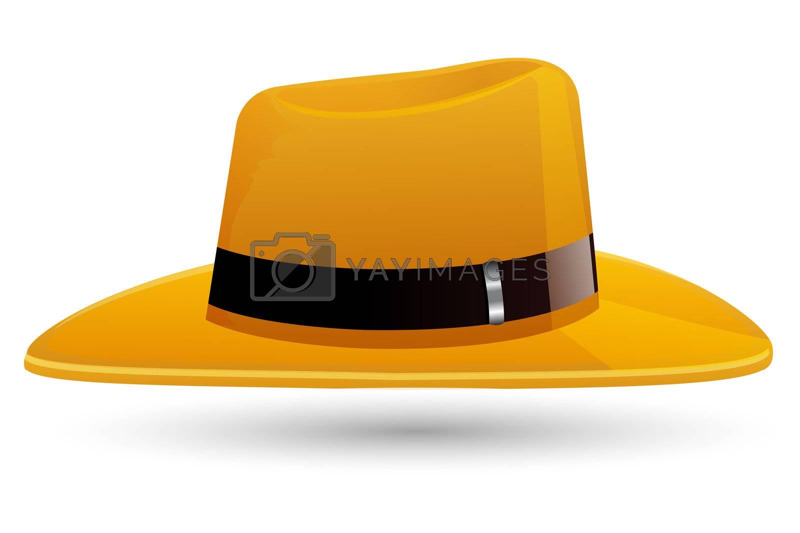 illustration of hat on white background