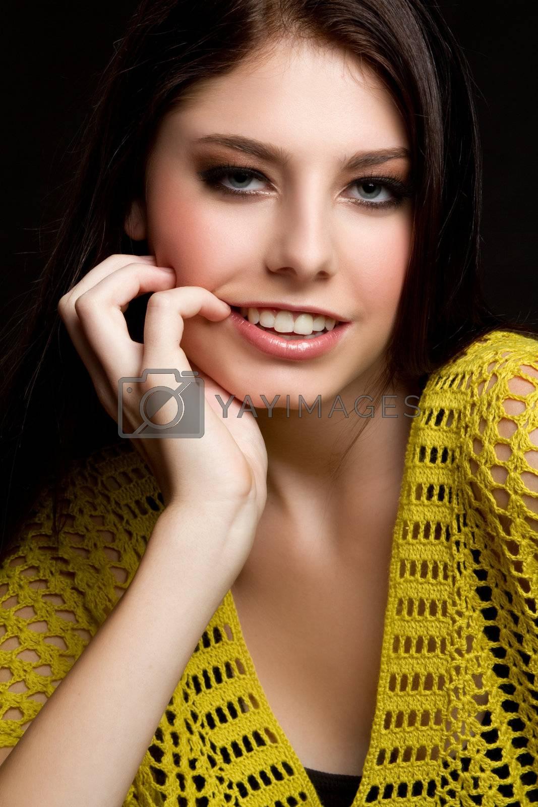 Beautiful young woman smiling portrait