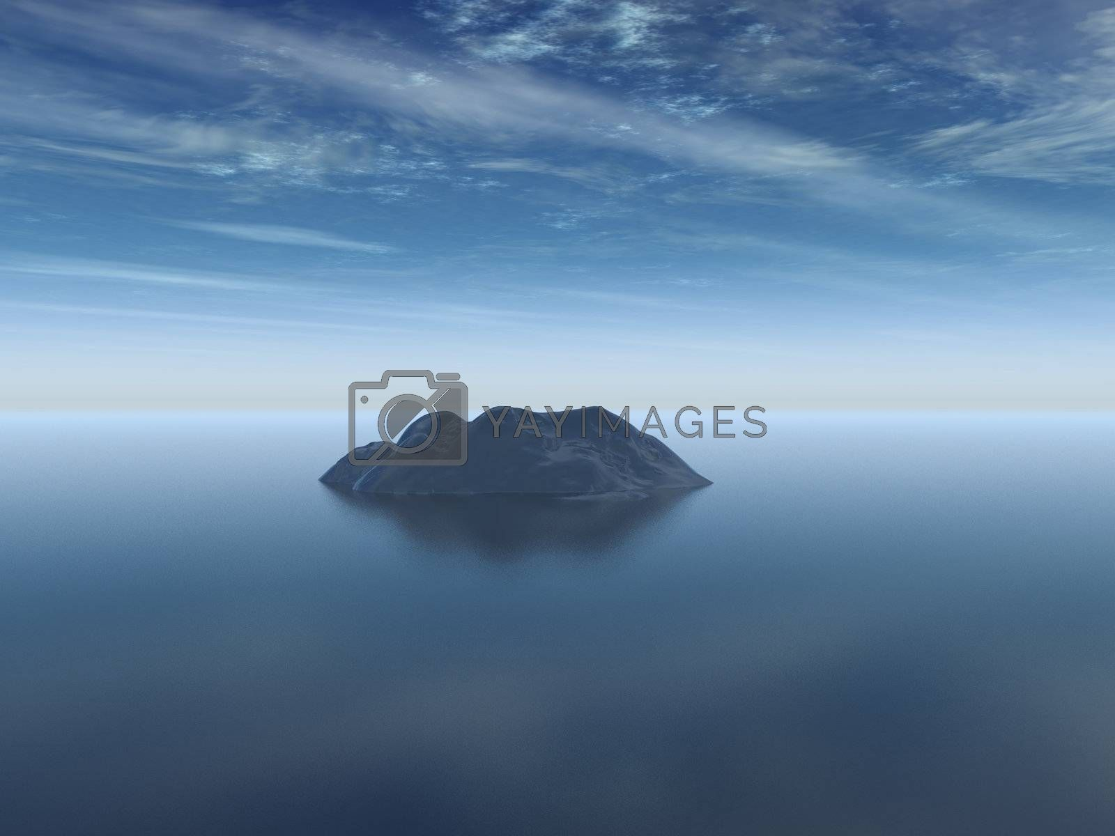 Royalty free image of island by drizzd