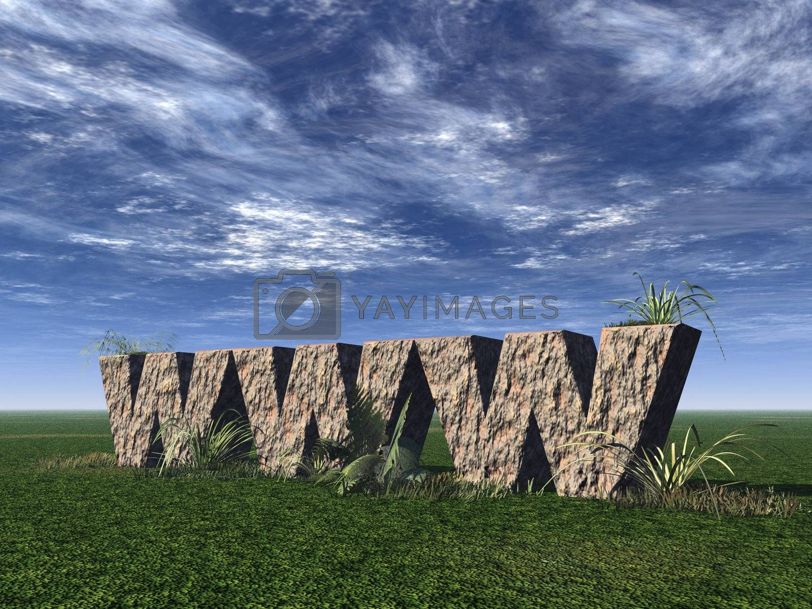 Royalty free image of www rocks by drizzd