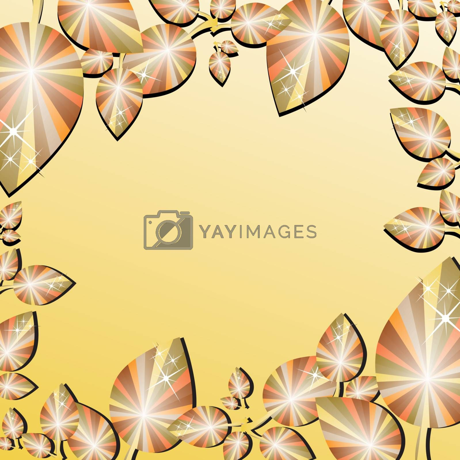 autumn leaf border with space in the middle