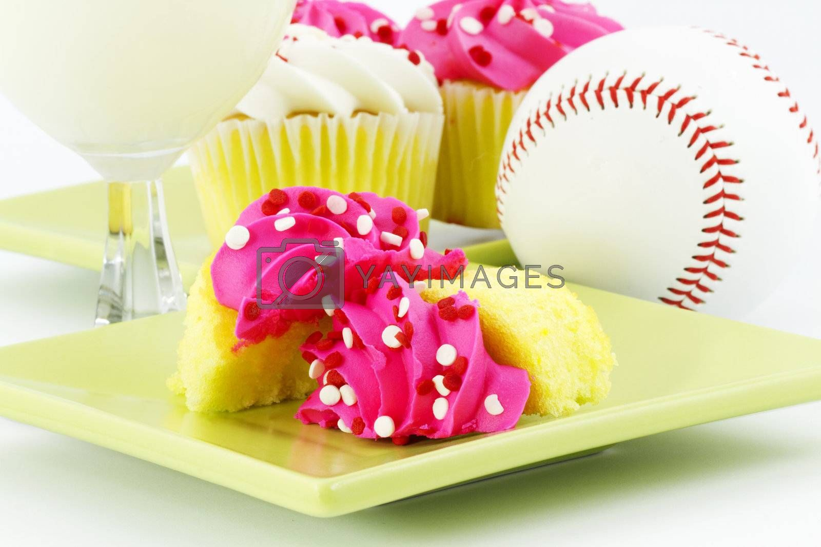 A Celebration with Cupcakes and Milk After the Game by fmcginn