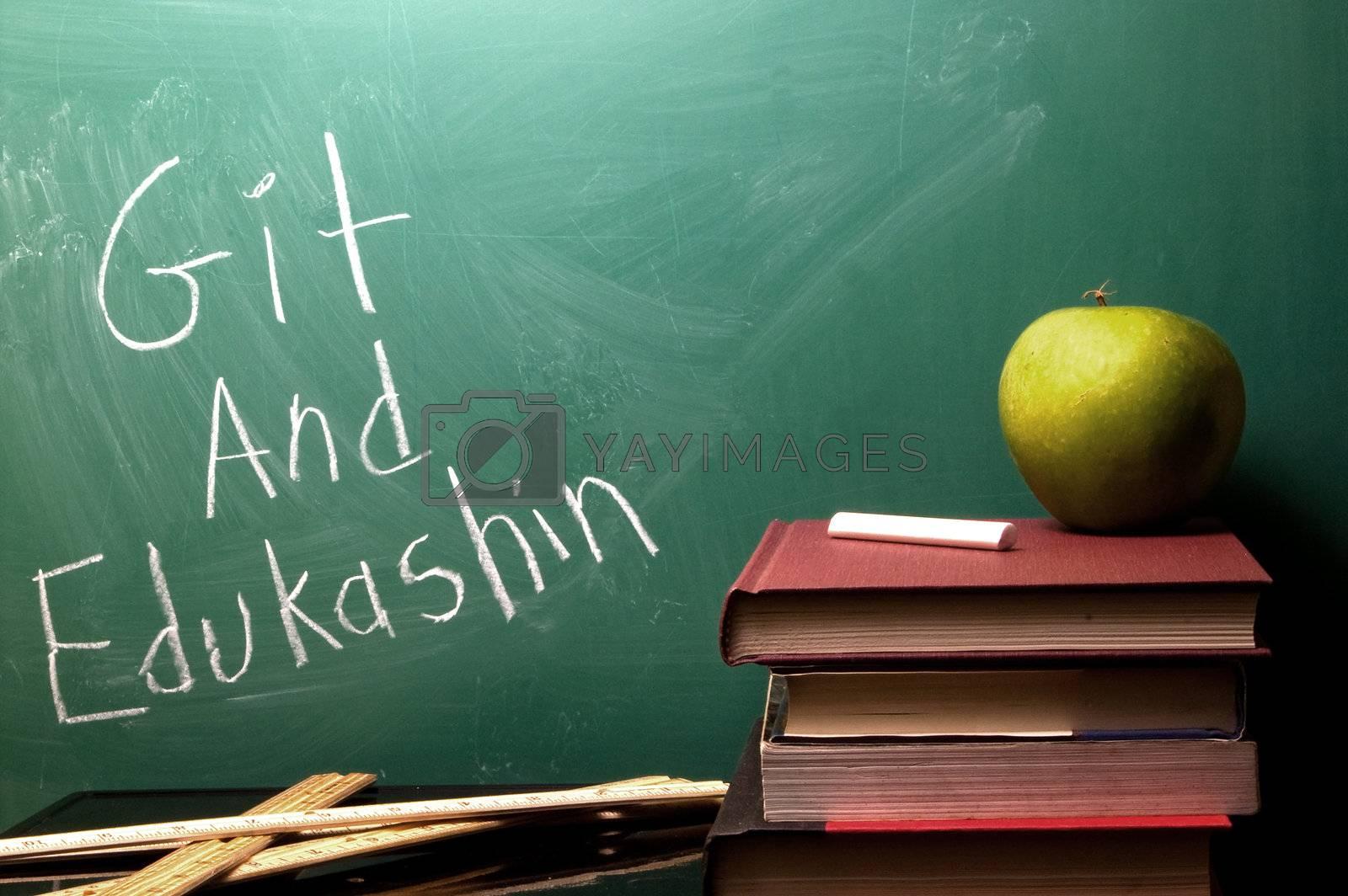 A chalkboard with Git and Edukashin written on it.