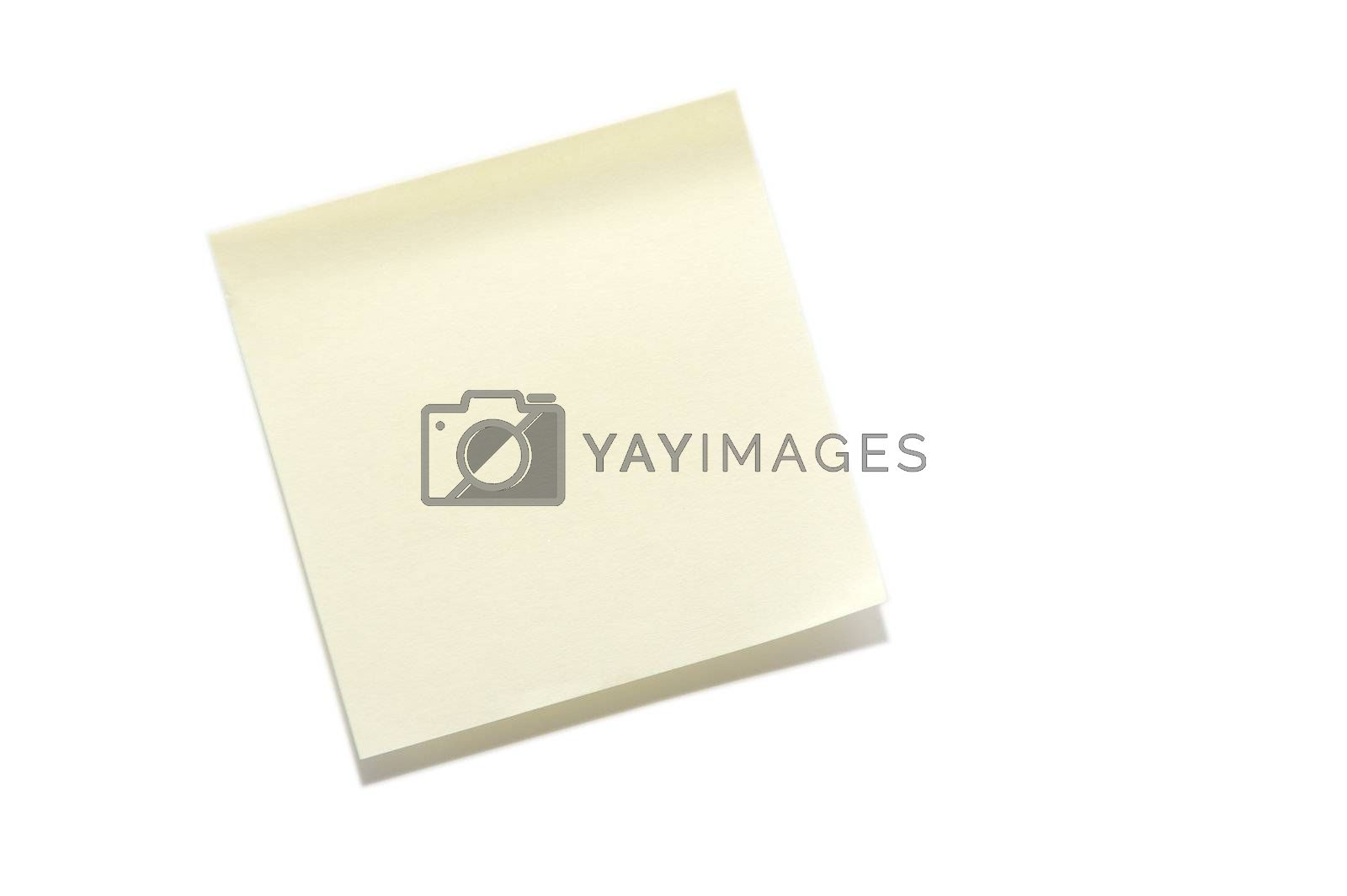 A blank sticky note ready for a message.