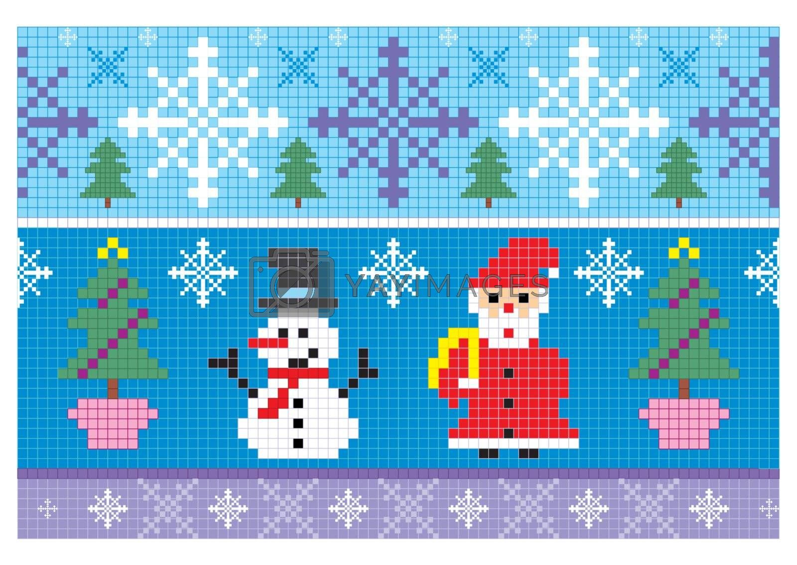 christmas embroidery seamless background illustration