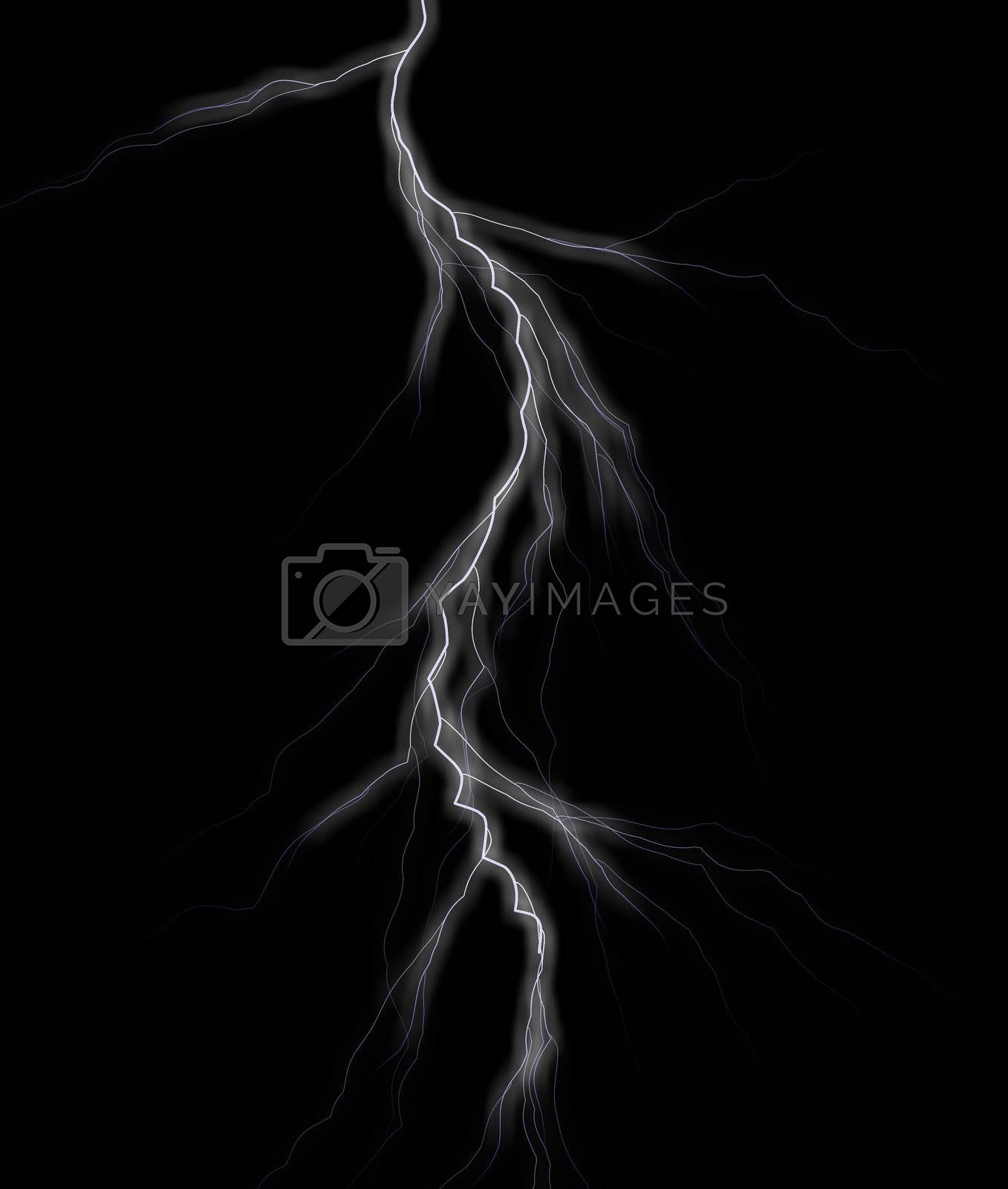 Royalty free image of lightning by drizzd