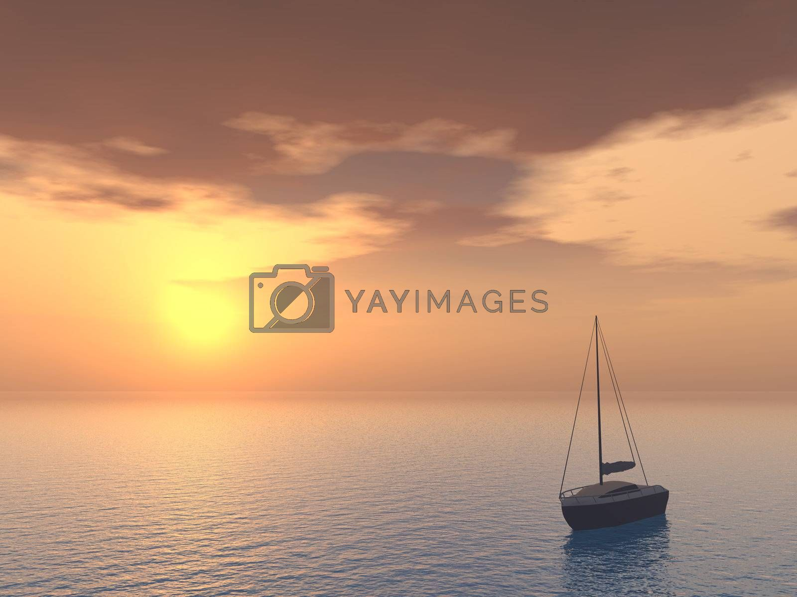 Royalty free image of boat by drizzd