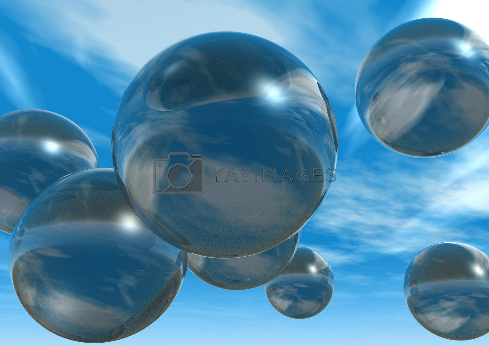 Royalty free image of bubbles by drizzd