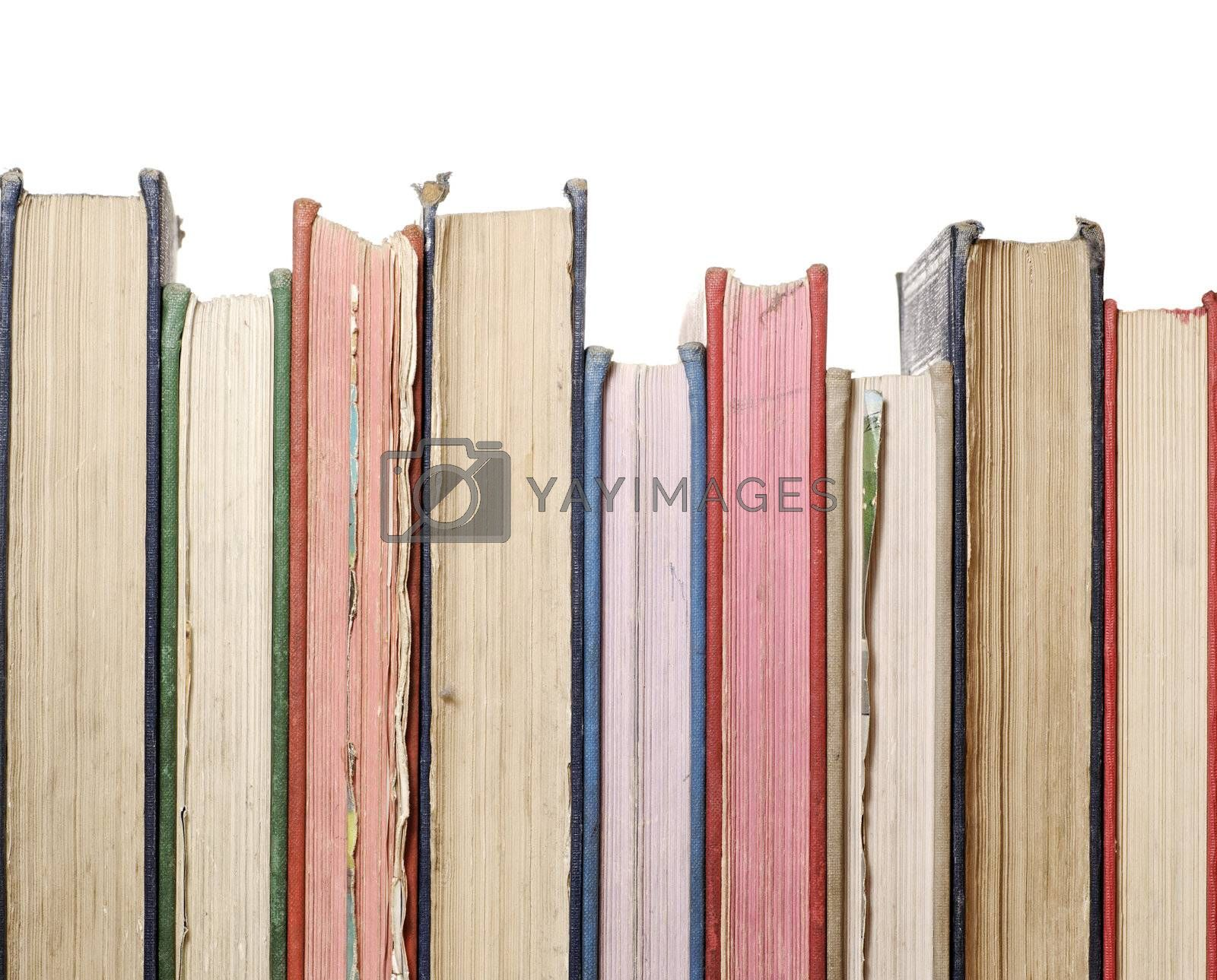 row of old books by massman