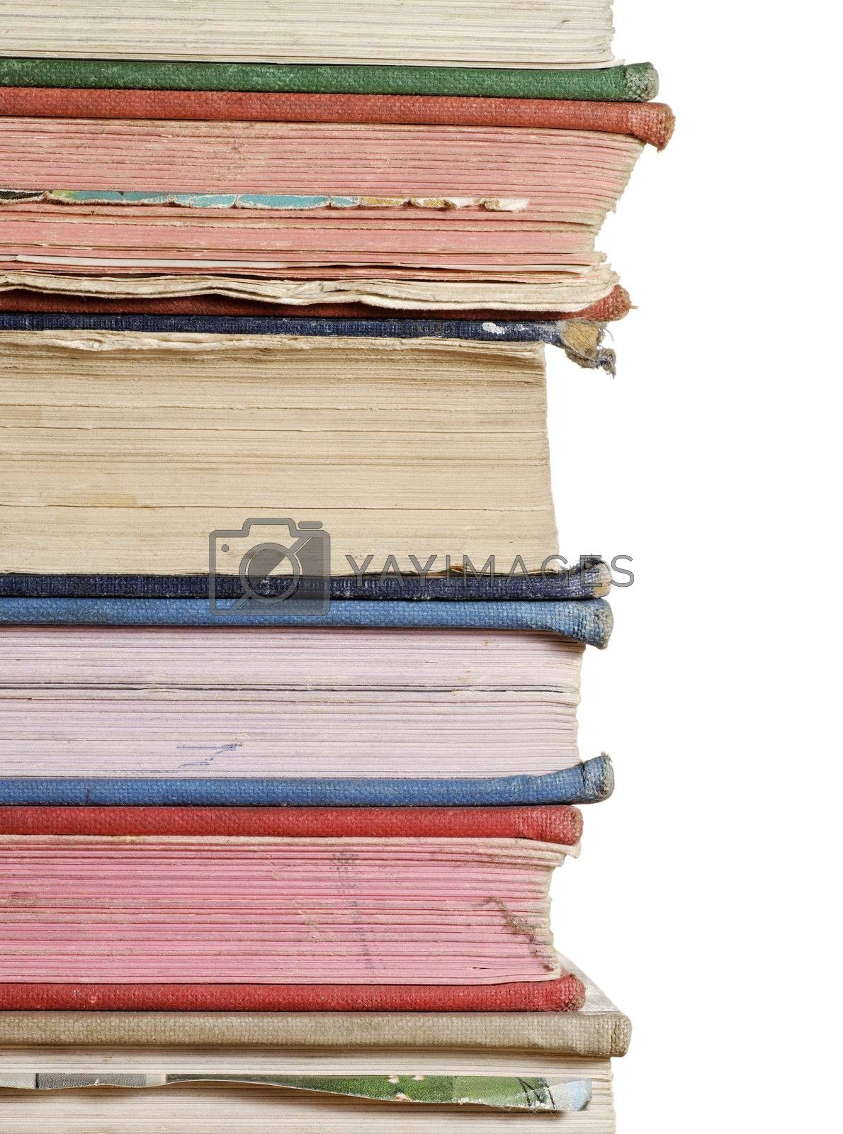stack of books close up by massman