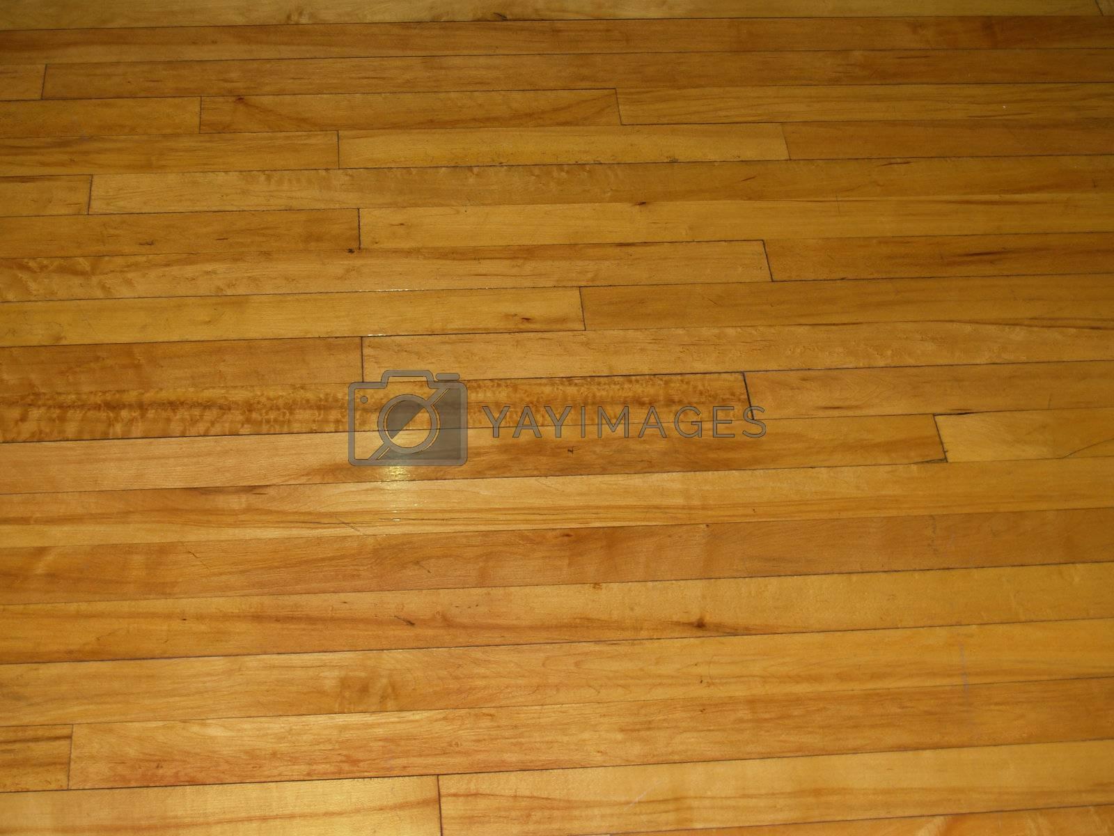 wood floor for an indoor gym