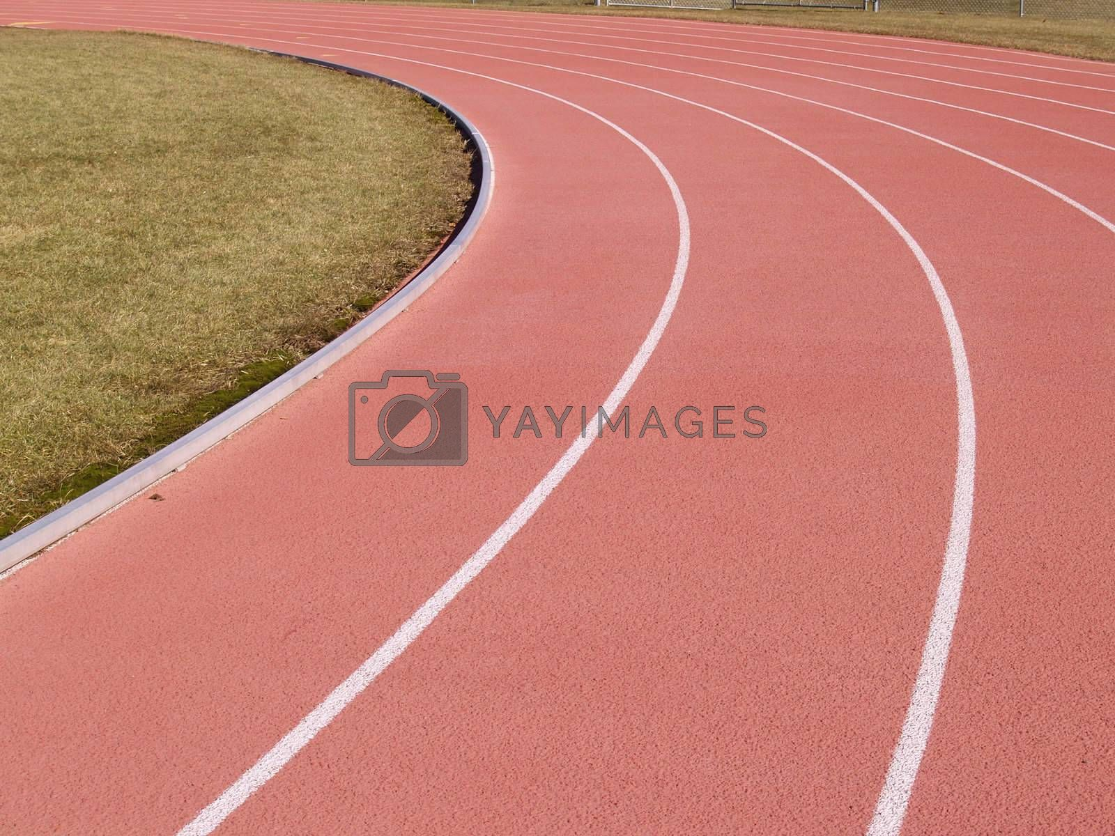 lanes on an outdoor running track