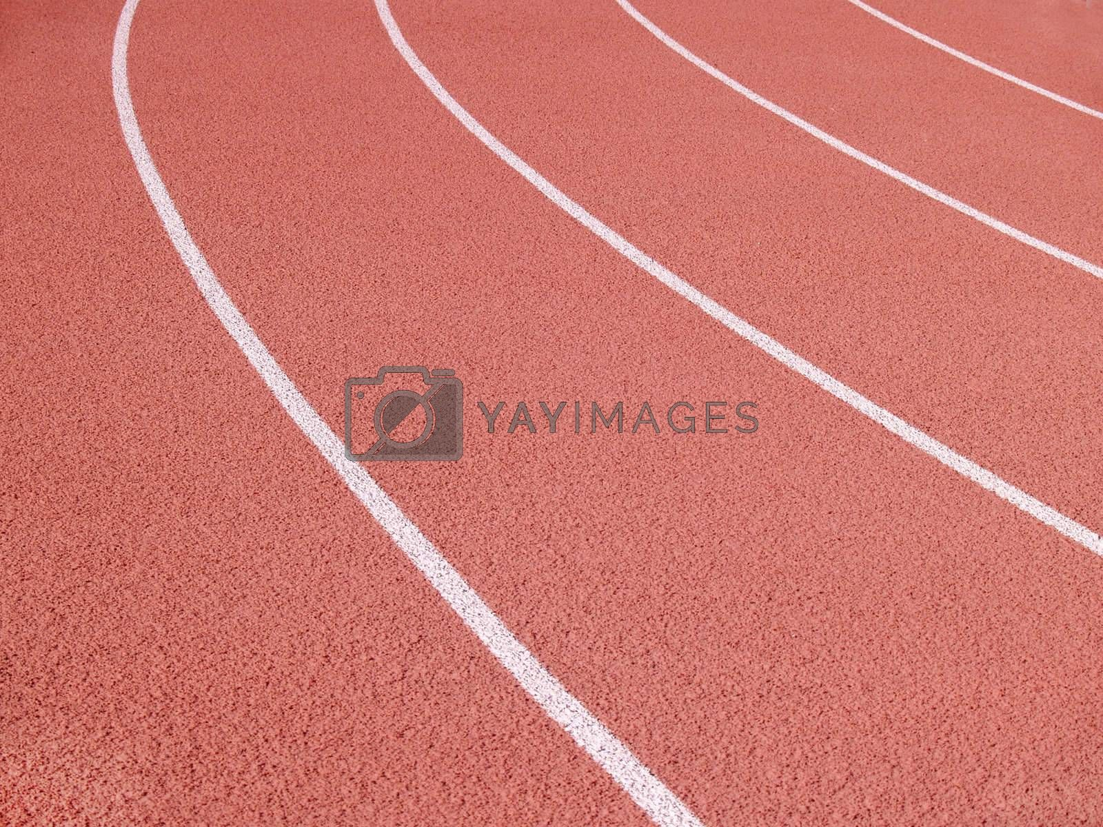 an abstract of lines on a running track